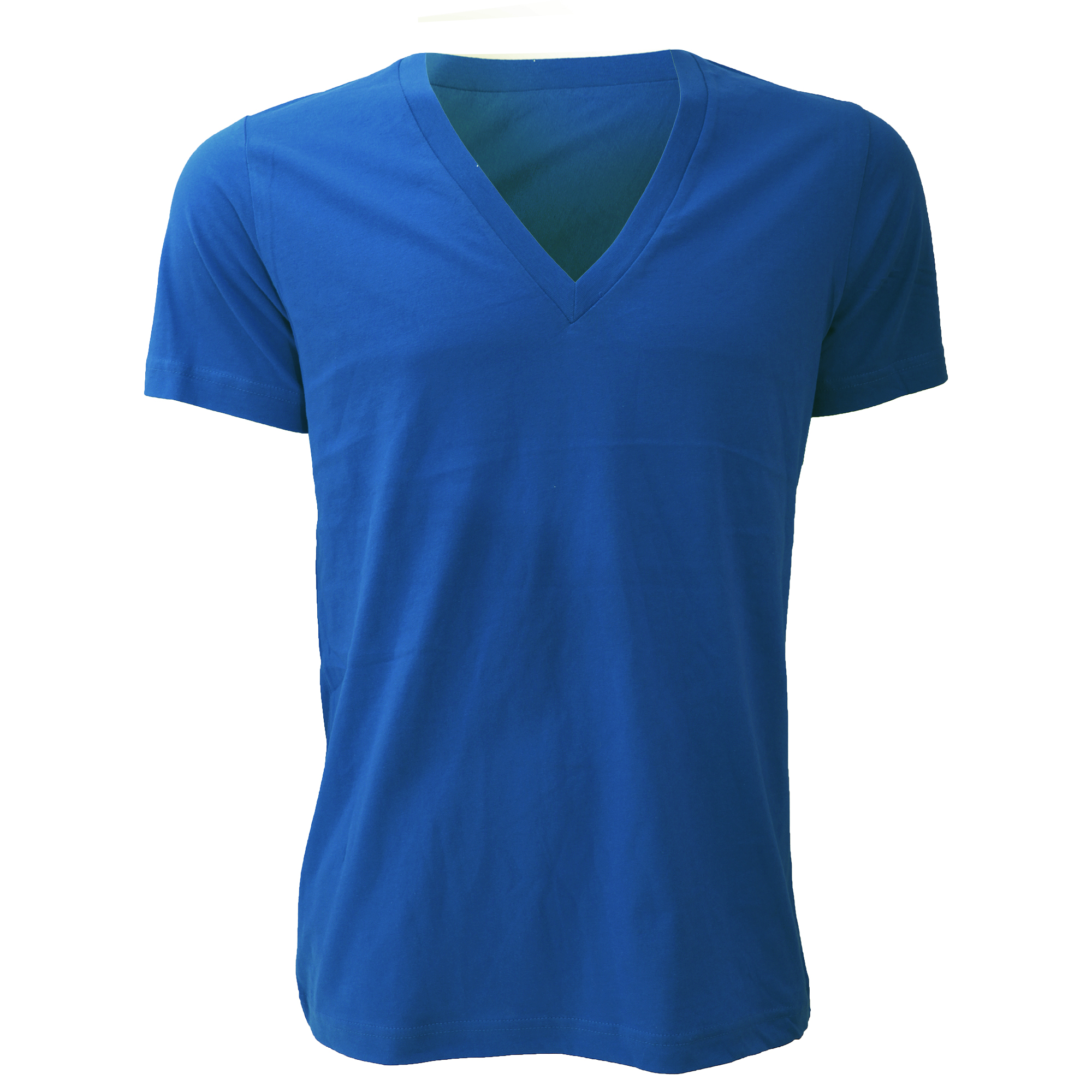 Canvas Unisex Jersey Deep V Neck T Shirt Mens Short