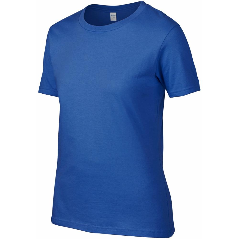 Gildan ladies womens premium cotton plain rs summer t for Premium plain t shirts