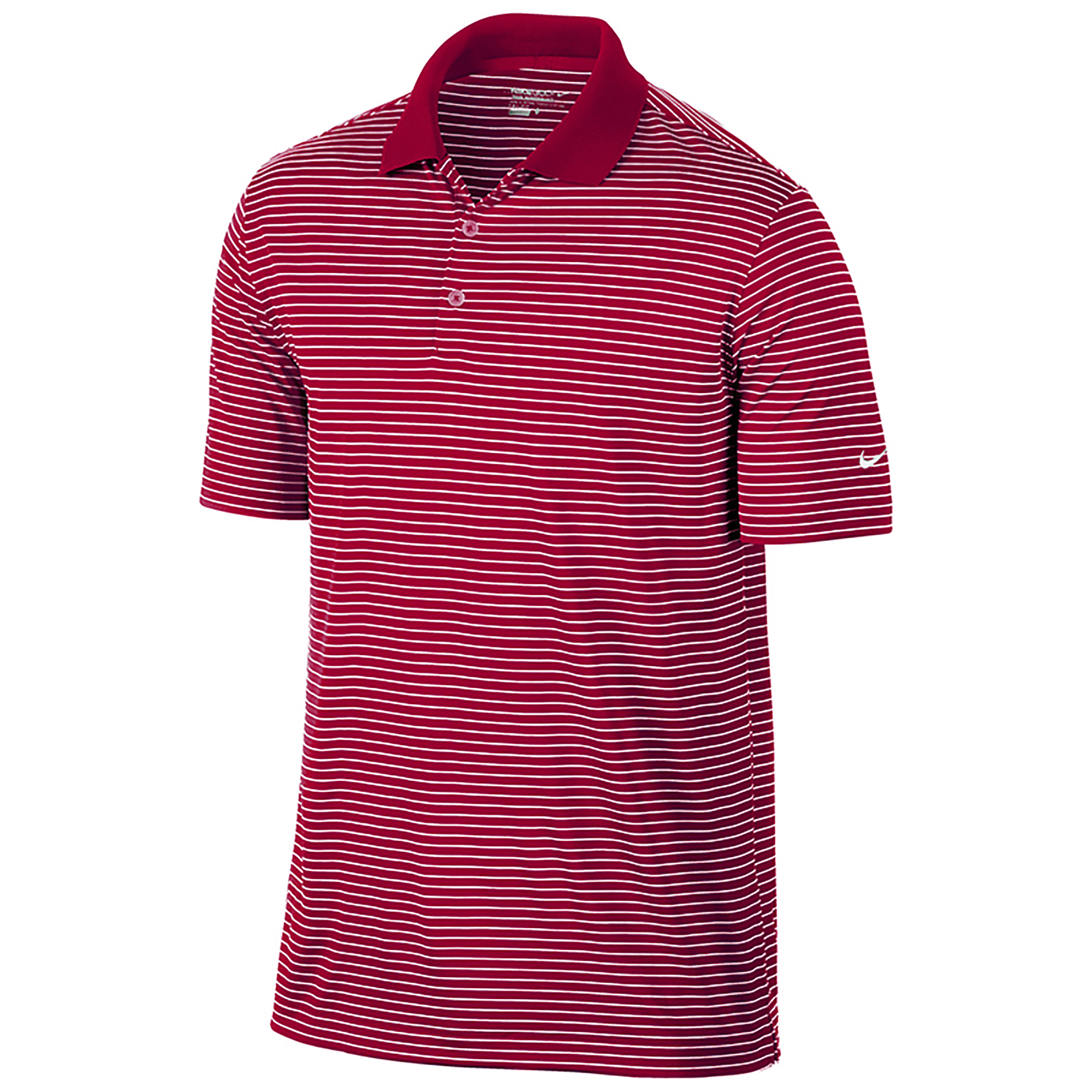 Nike golf mens victory striped solid knit short sleeve for Mens short sleeve patterned shirts