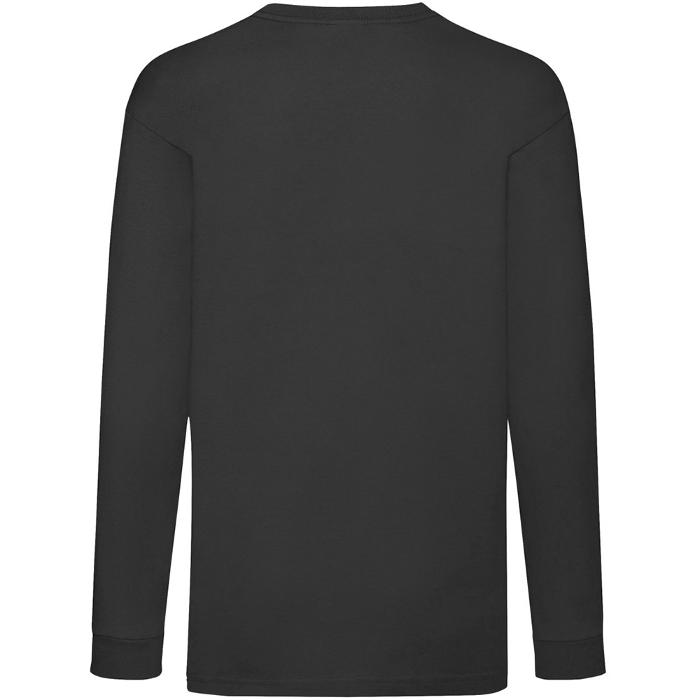 T-Shirt-a-manches-longues-Fruit-Of-The-Loom-en-coton-pour-enfant-3-15-ans