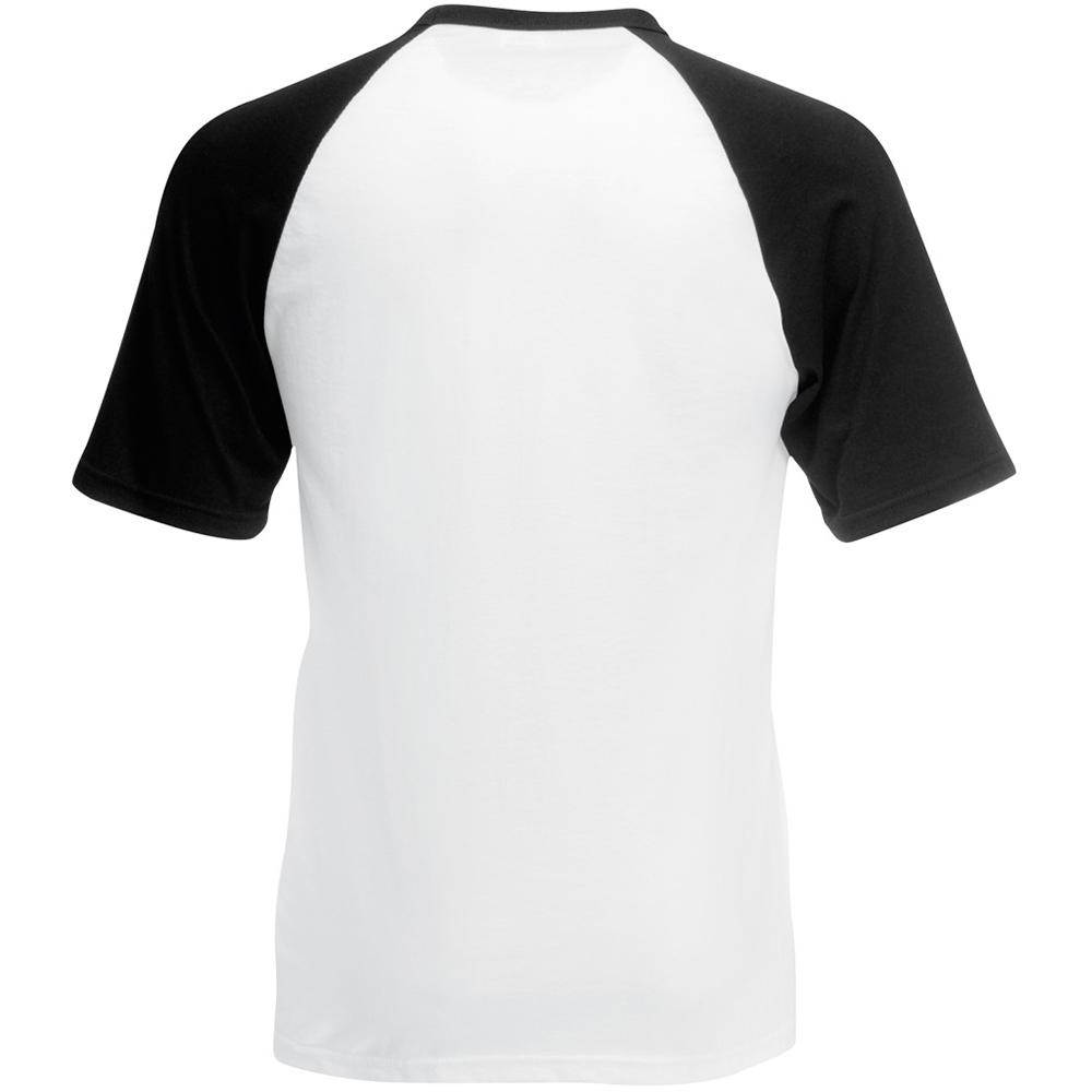 fruit of the loom mens short sleeve baseball t shirt ebay. Black Bedroom Furniture Sets. Home Design Ideas