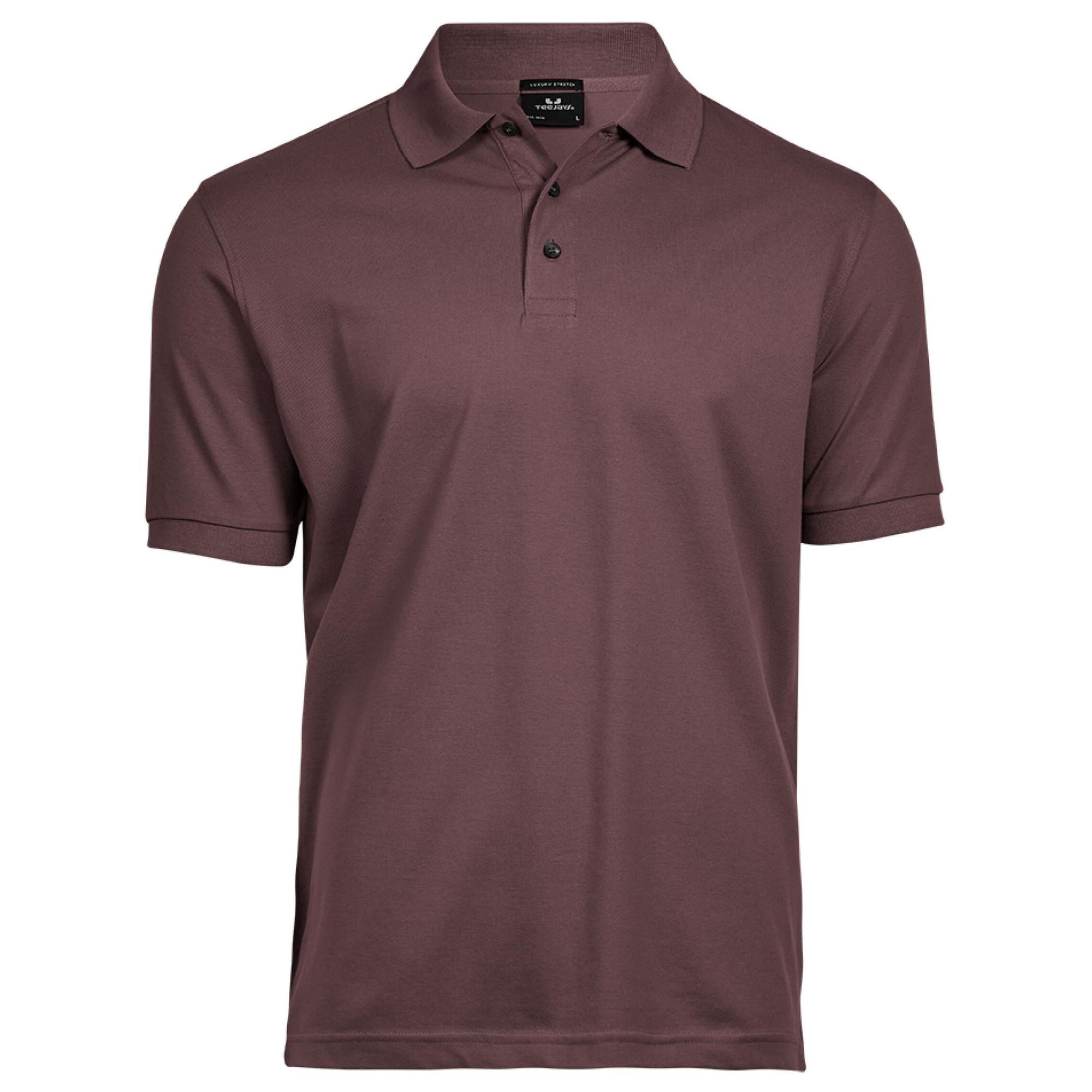 Tee jays mens luxury stretch short sleeve polo shirt ebay for Stretch polo shirt mens