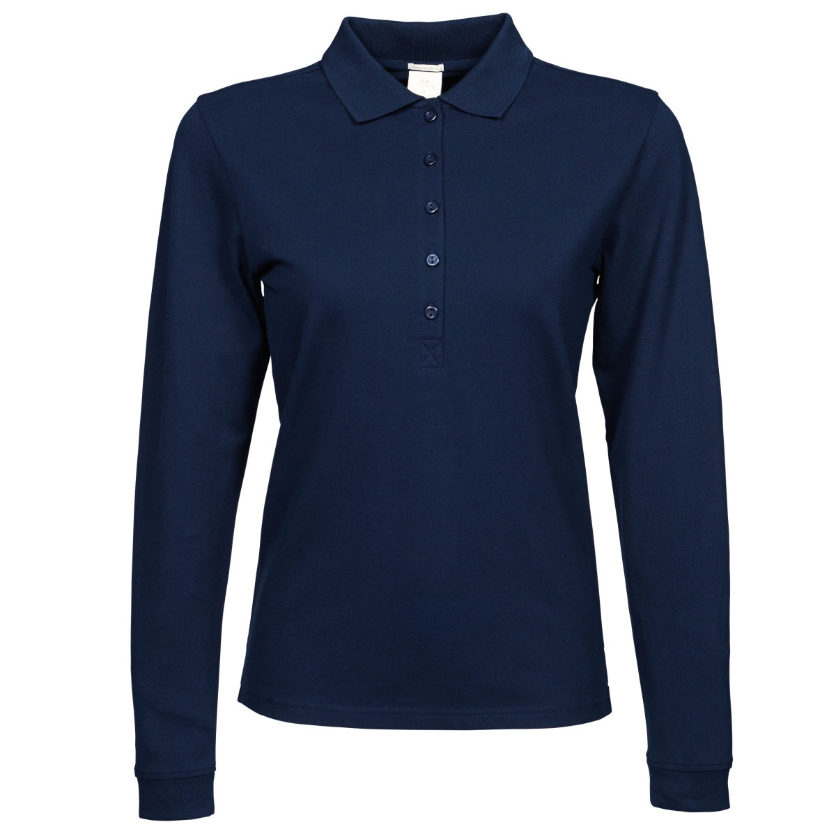 Tee jays womens ladies luxury stretch long sleeve polo for Misses long sleeve tee shirts