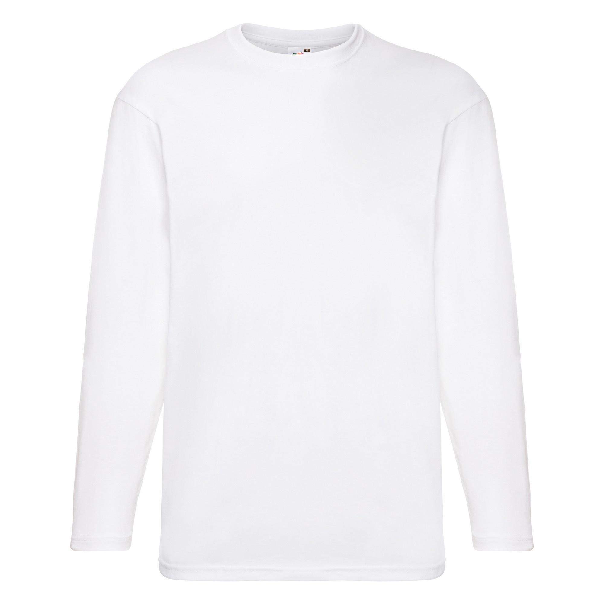 Fruit of the loom mens valueweight crew neck long sleeve t for Mens crew neck tee shirts
