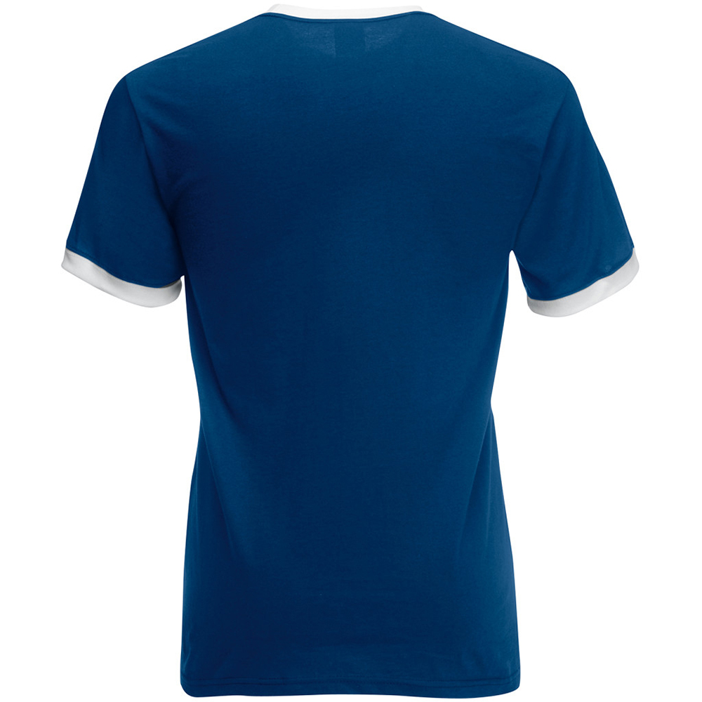 Fruit of the loom mens ringer short sleeve t shirt ebay for Fruits of the loom t shirts
