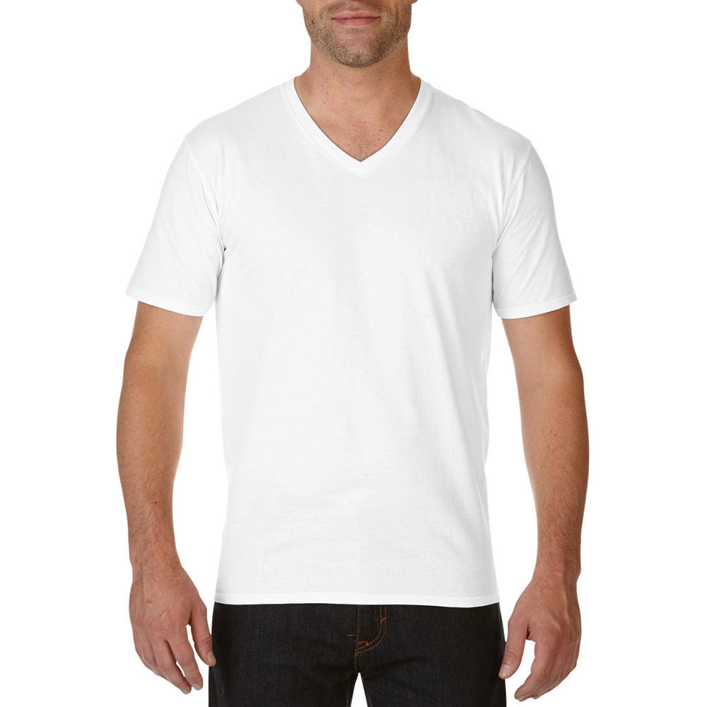 Gildan Mens Premium Cotton V Neck Short Sleeve T Shirt Ebay