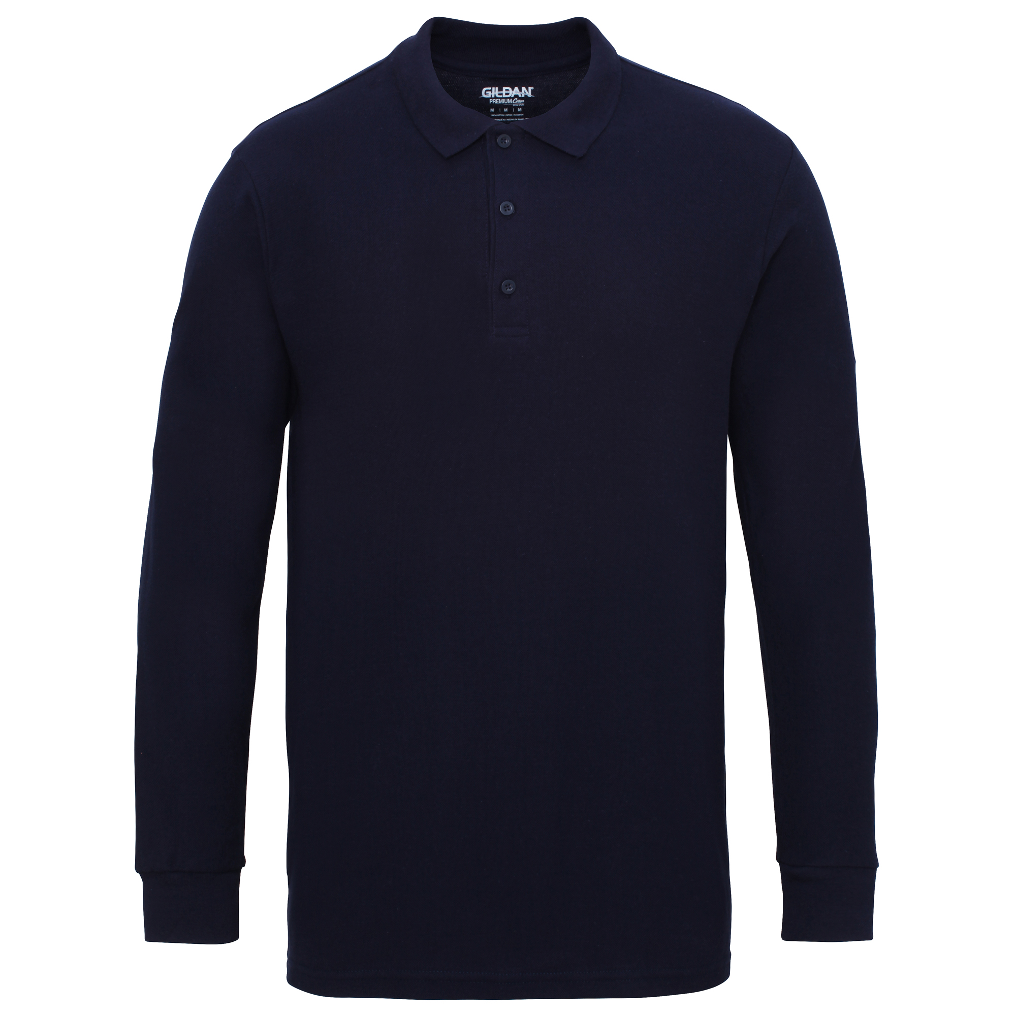 gildan mens long sleeve double pique cotton polo shirt ebay
