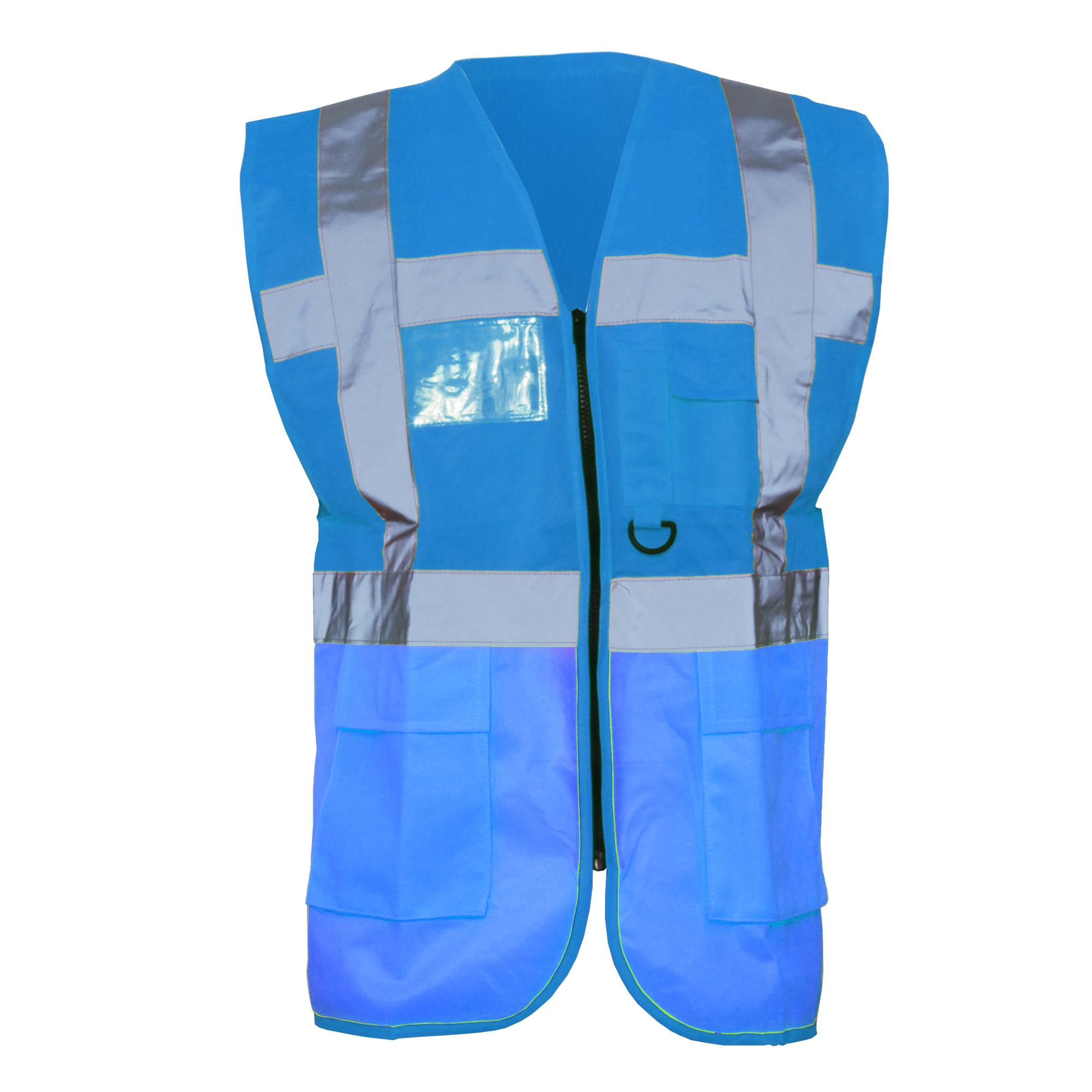 Yoko Hi-Vis Premium Executive//Manager Waistcoat Jacket BC4416 Pack of 2