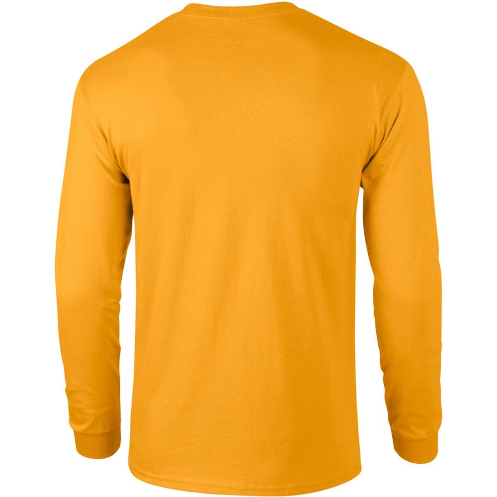BC477 Gildan Mens Plain Crew Neck Ultra Cotton Long Sleeve T-Shirt