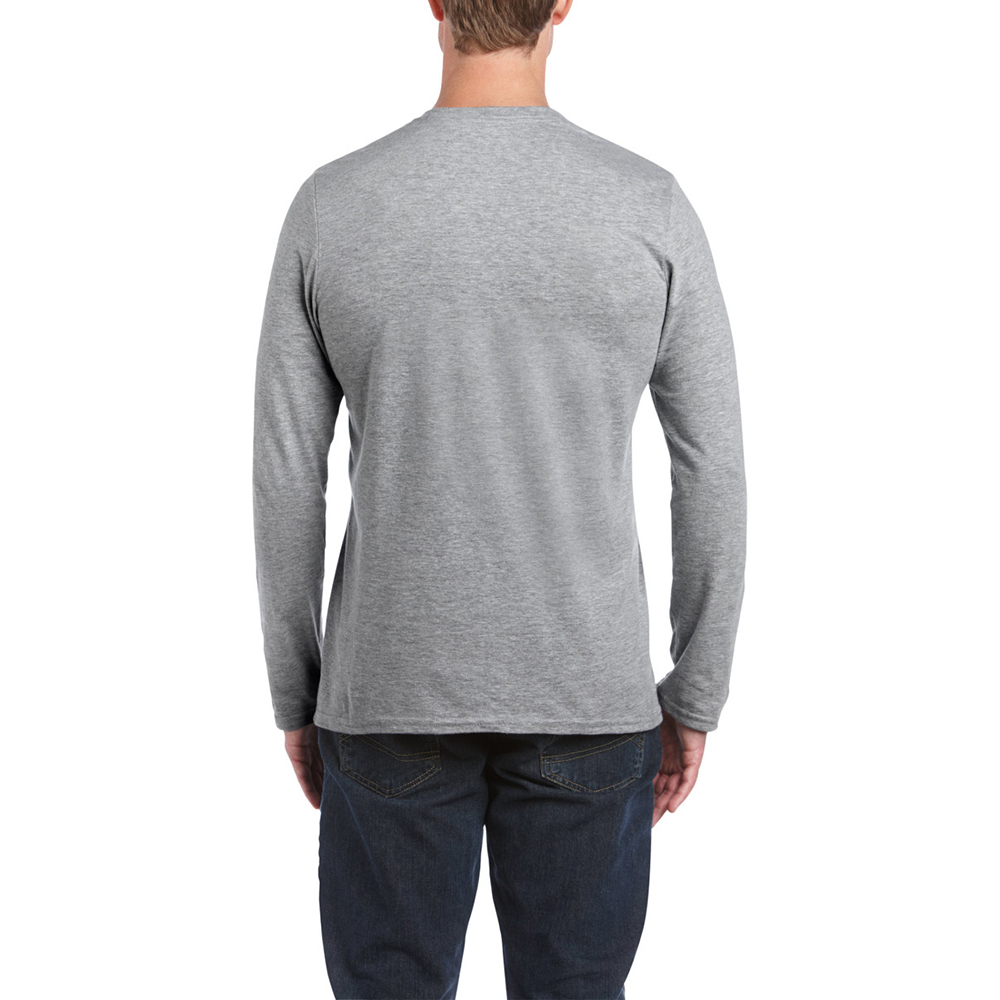 Gildan mens soft style long sleeve t shirt ebay for Mens long sleeved t shirts