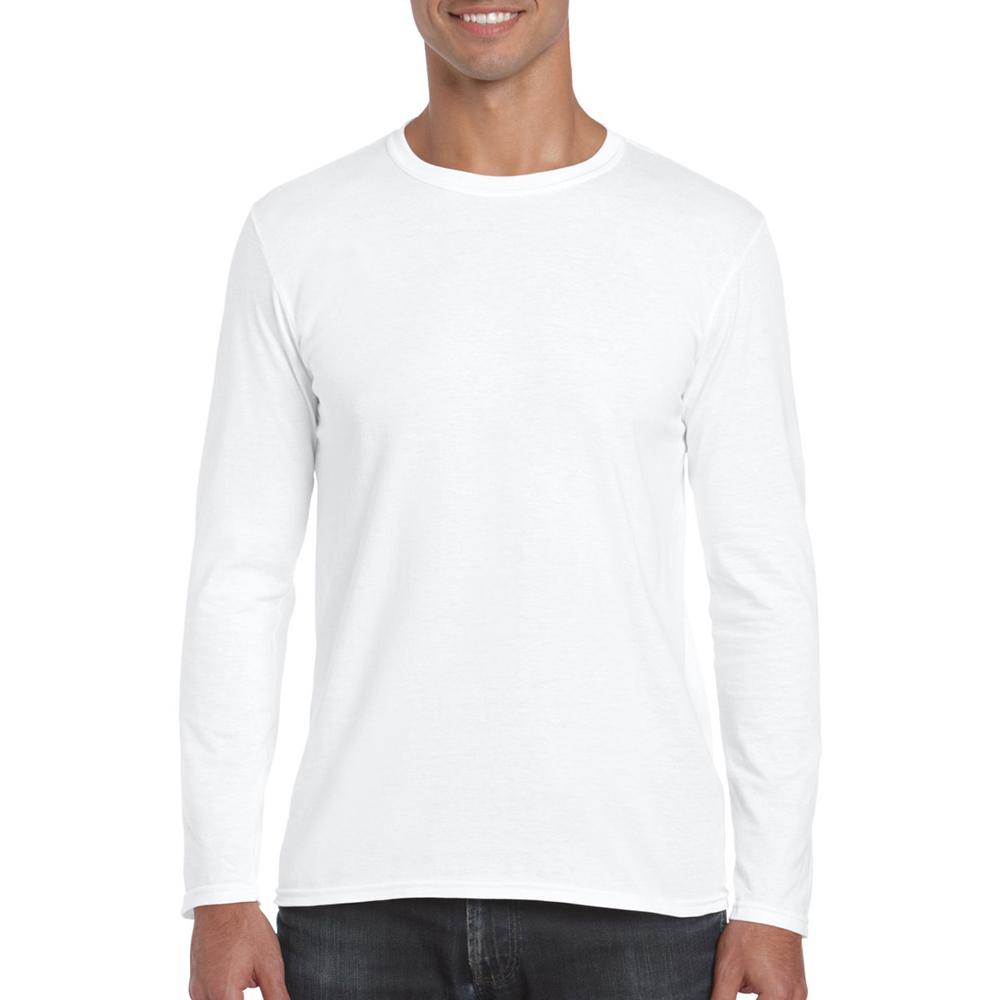 Gildan Mens Soft Style Plain Basic Casual Cotton Long