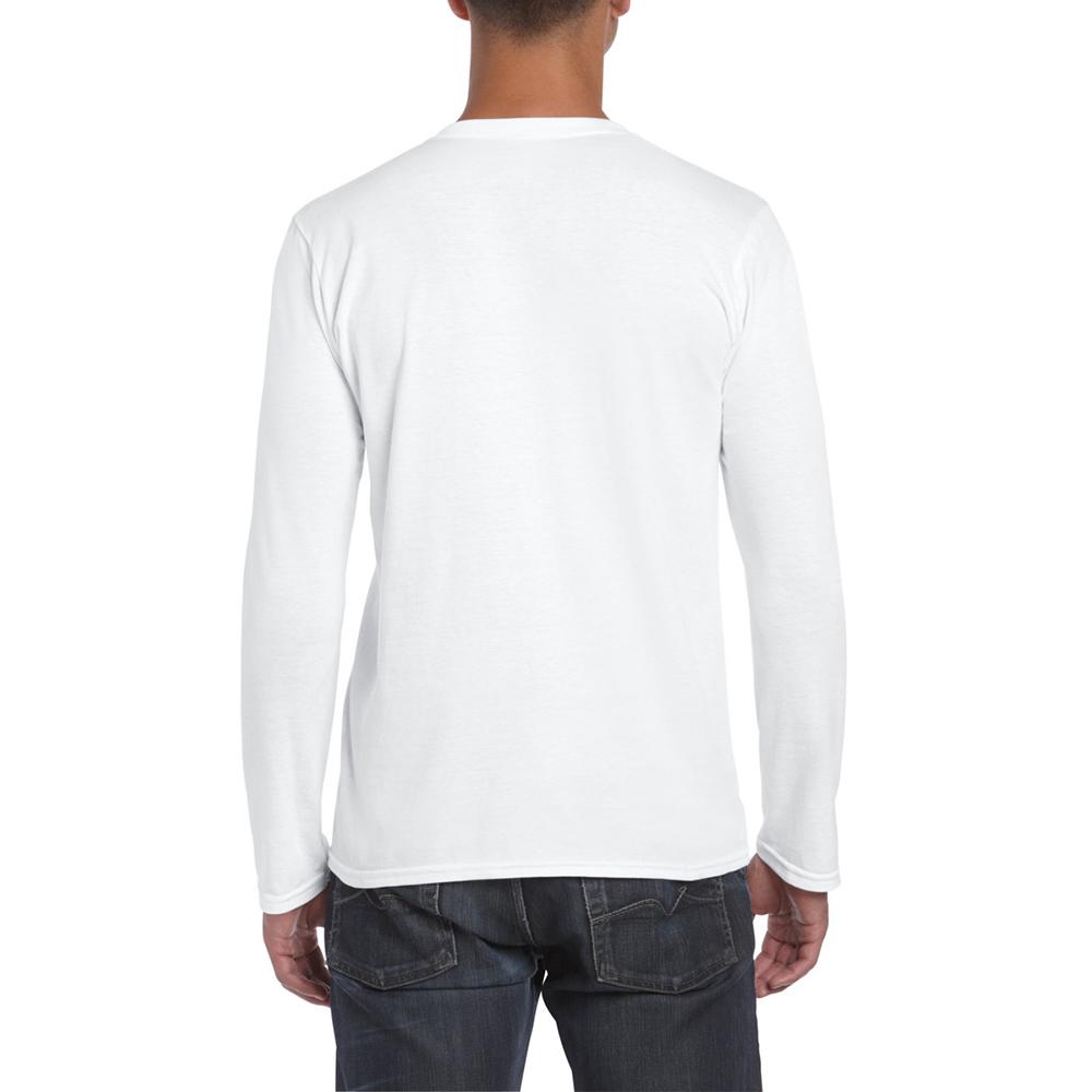 Gildan mens soft style plain basic casual cotton long for Gildan t shirt styles