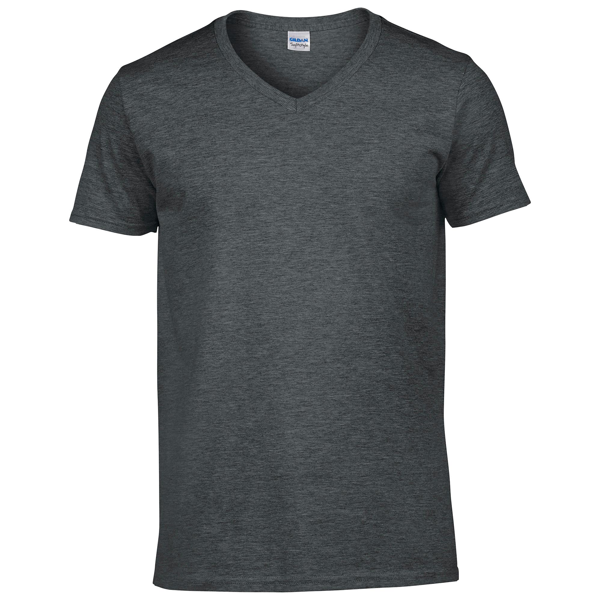 gildan soft style t shirt f r m nner v ausschnitt kurzarm. Black Bedroom Furniture Sets. Home Design Ideas