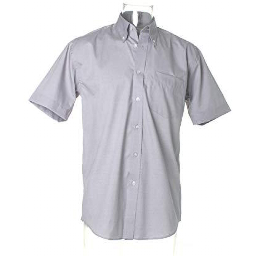 Kustom kit mens short sleeve business shirt for Business shirts for men