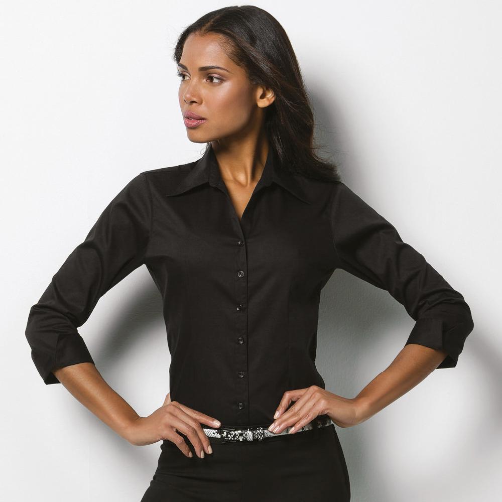 Kustom Kit Womens Ladies 3 4 Sleeve Office Formal