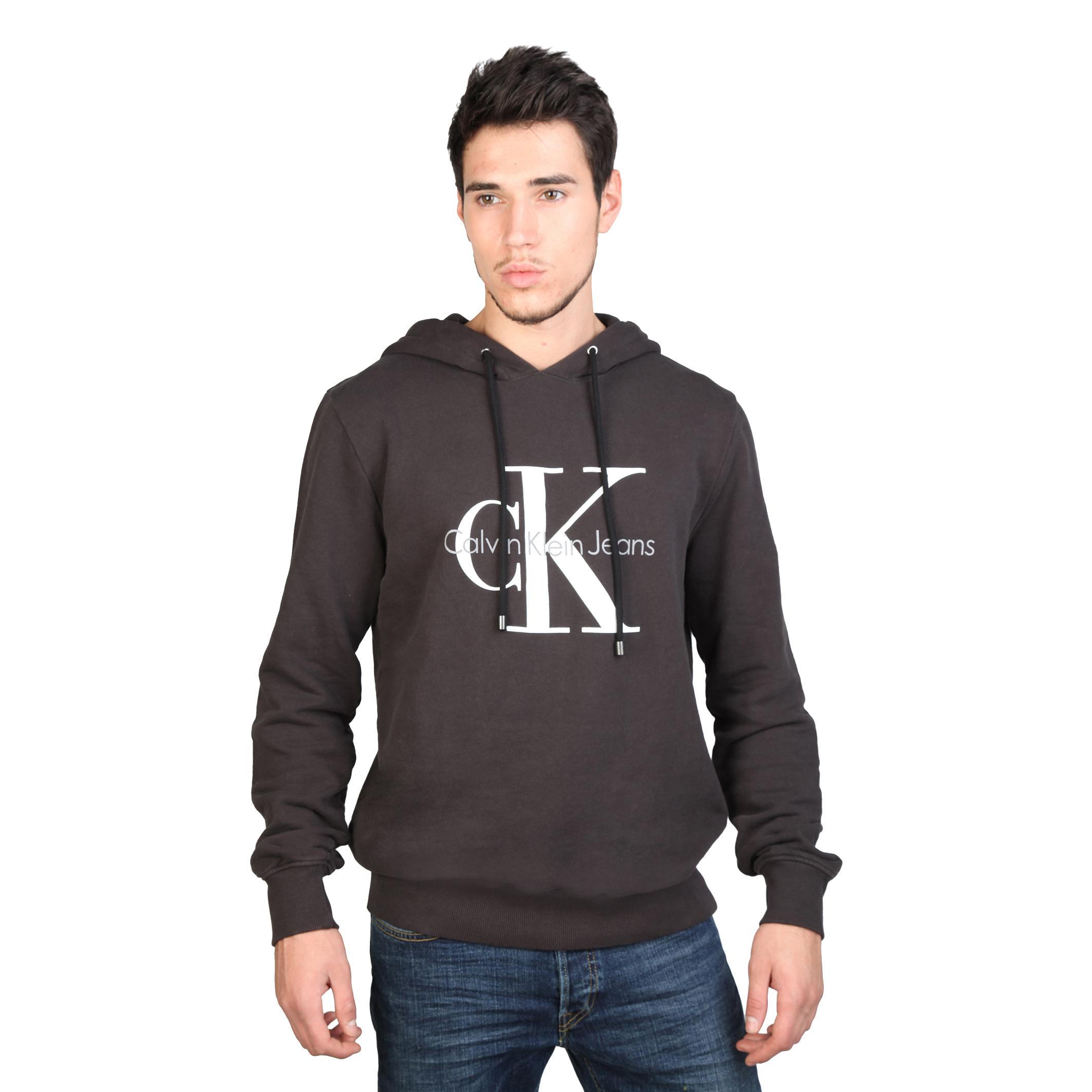 calvin klein mens printed logo long sleeve hoodie ebay. Black Bedroom Furniture Sets. Home Design Ideas