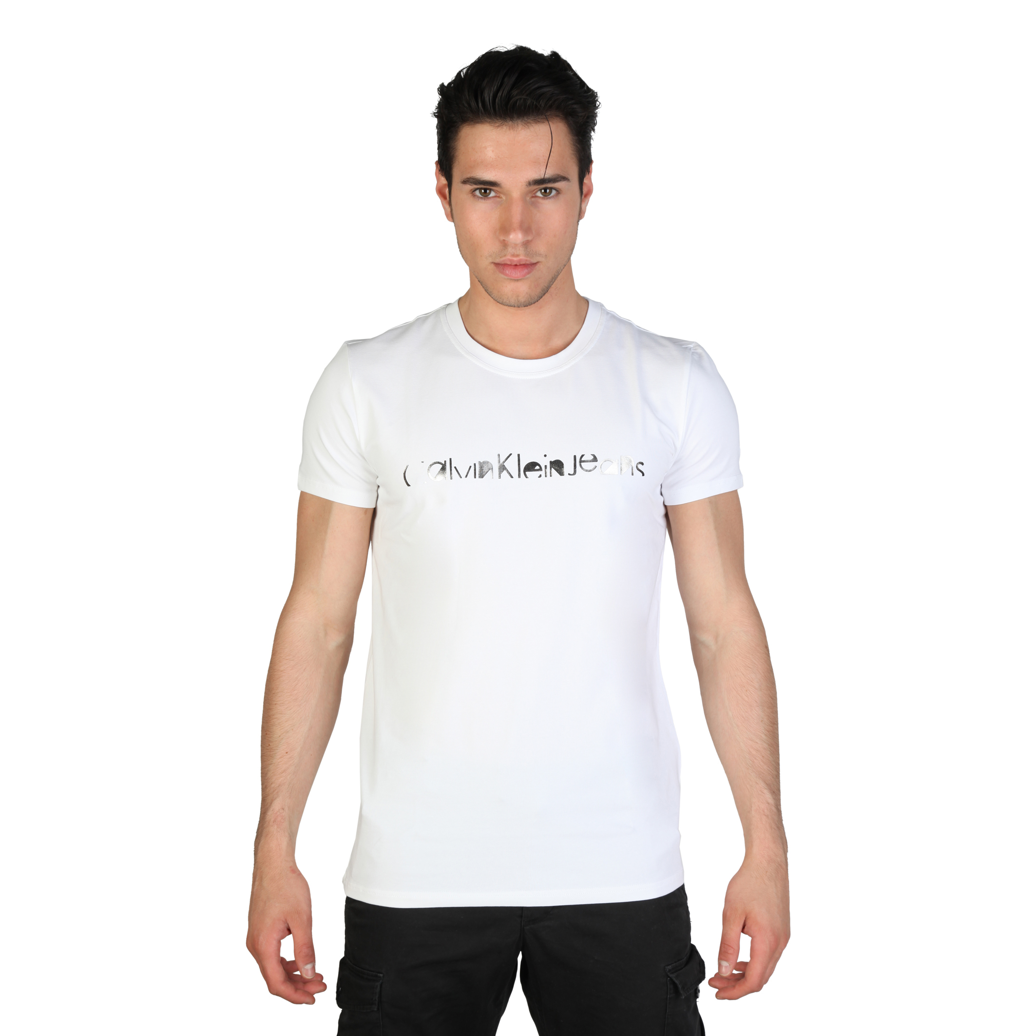 calvin klein herren kurzarm t shirt mit rundhalsausschnitt. Black Bedroom Furniture Sets. Home Design Ideas
