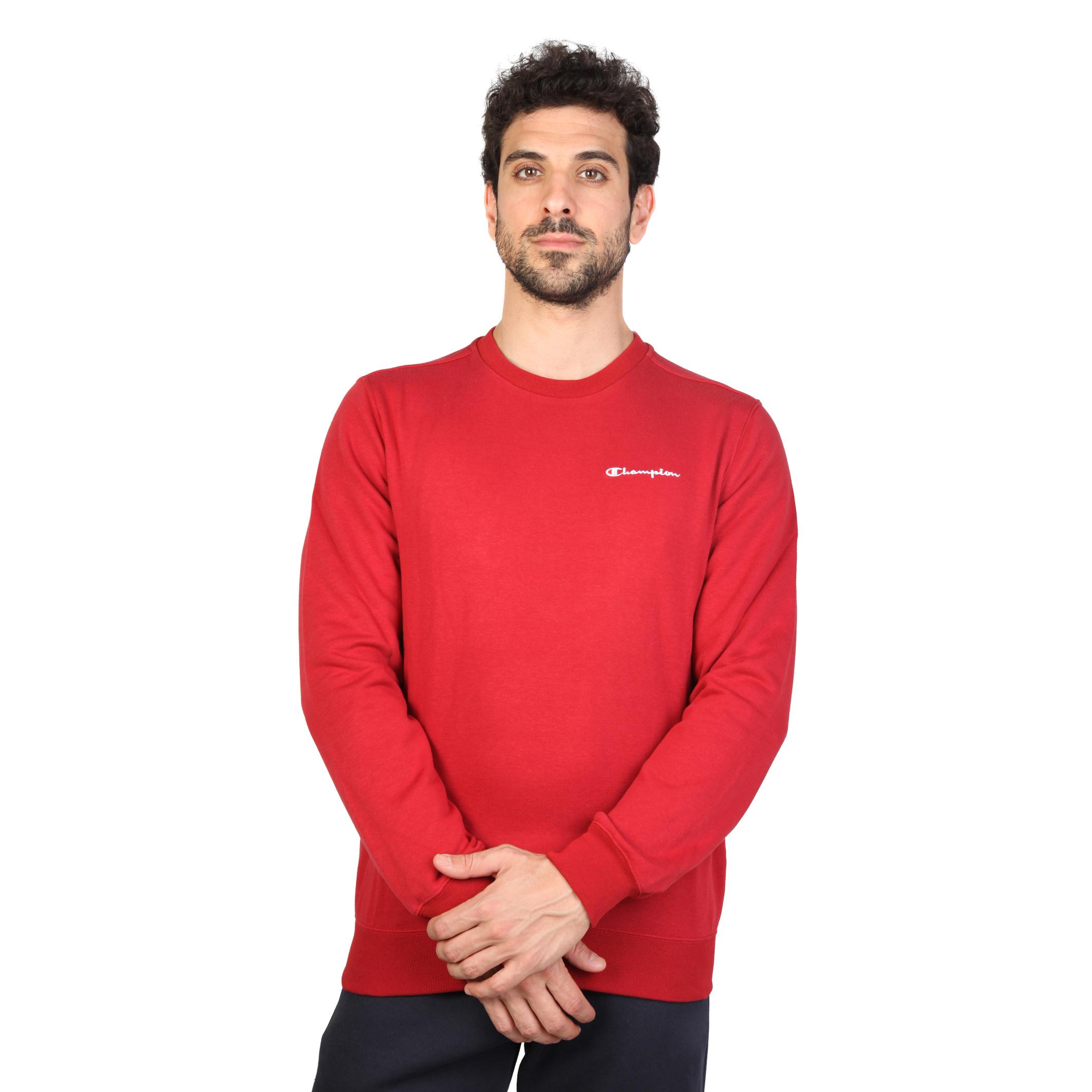 champion herren sweatshirt pullover mit gesticktem logo. Black Bedroom Furniture Sets. Home Design Ideas