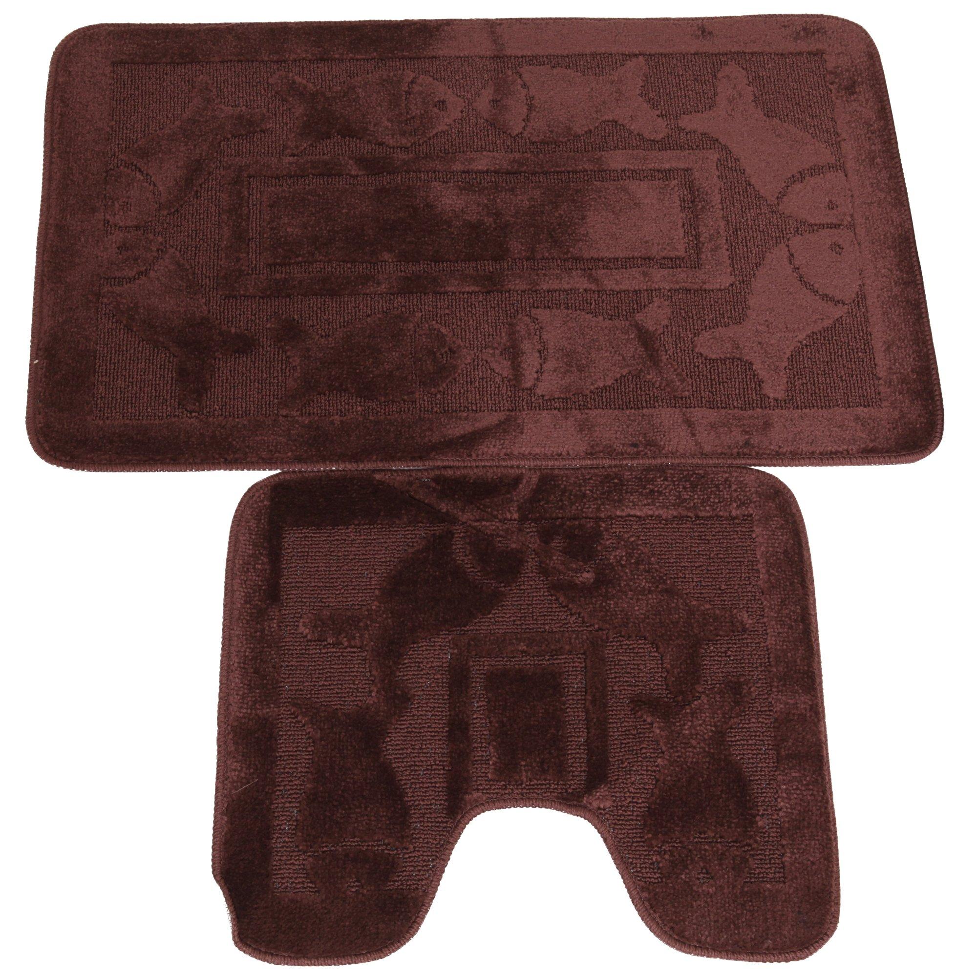 Set tappeti da bagno 2 pezzi 9 colori - Set tappeti per bagno ...