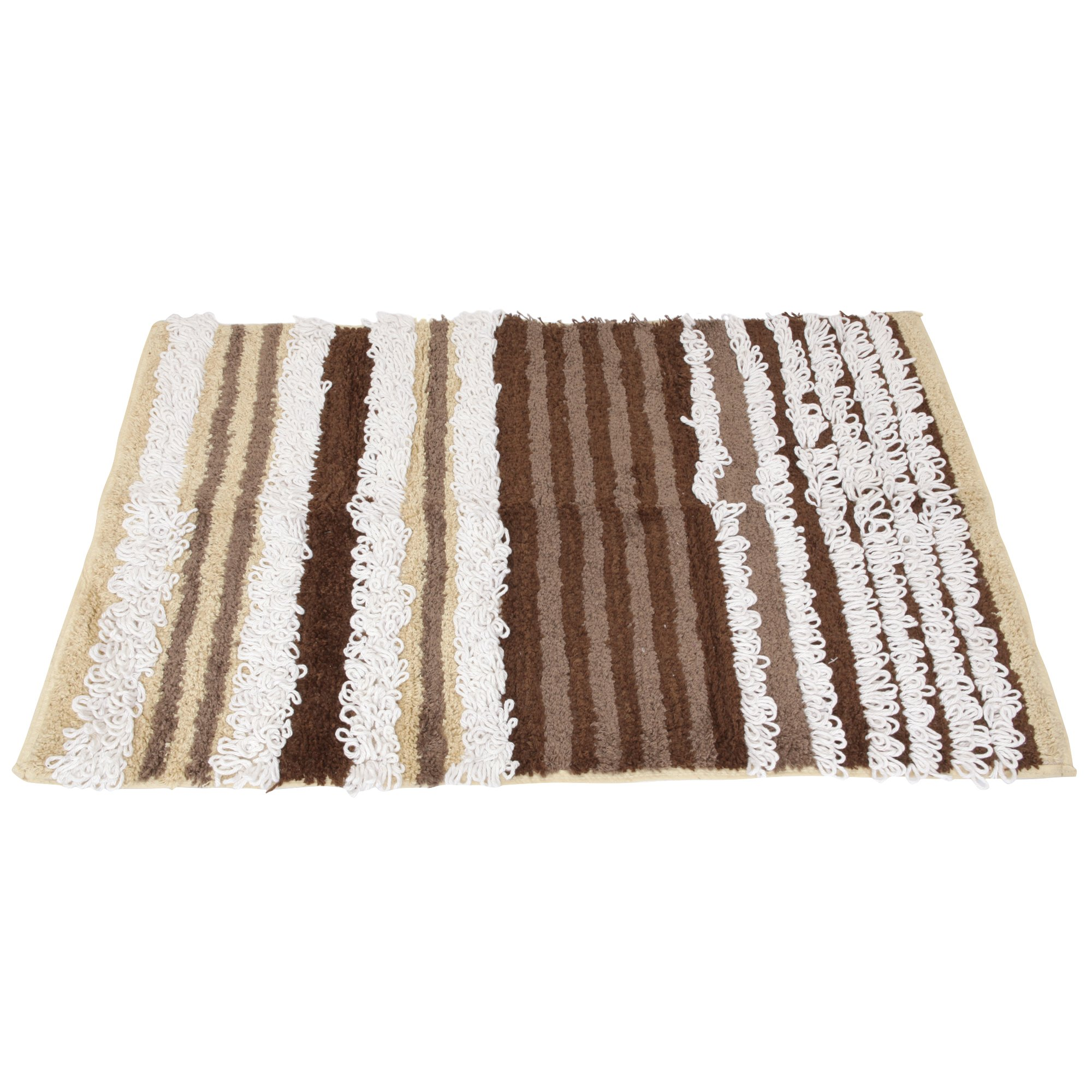 100 Cotton Striped Bathroom Bath Mat Rug Ebay