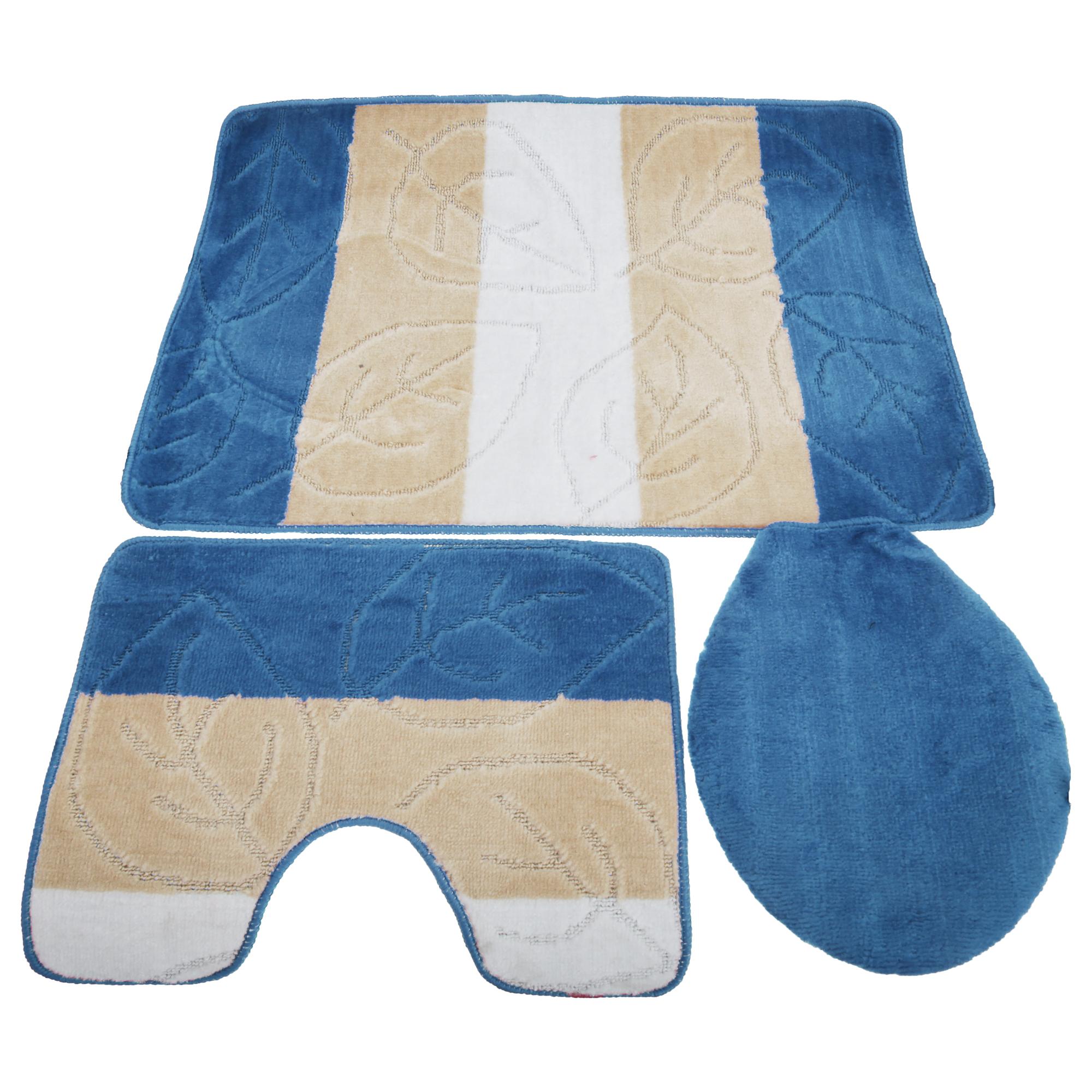Set di tappeti da bagno 3 pezzi ebay - Tappeti da bagno ...