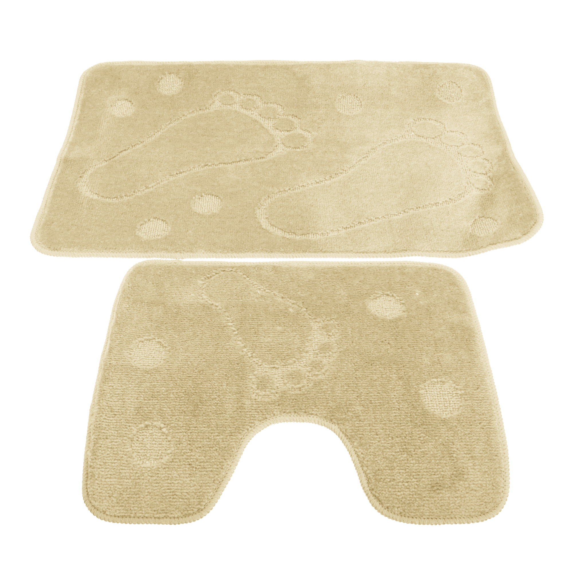 2 Piece Footprint Design Bathroom/Bath Mat And Pedestal