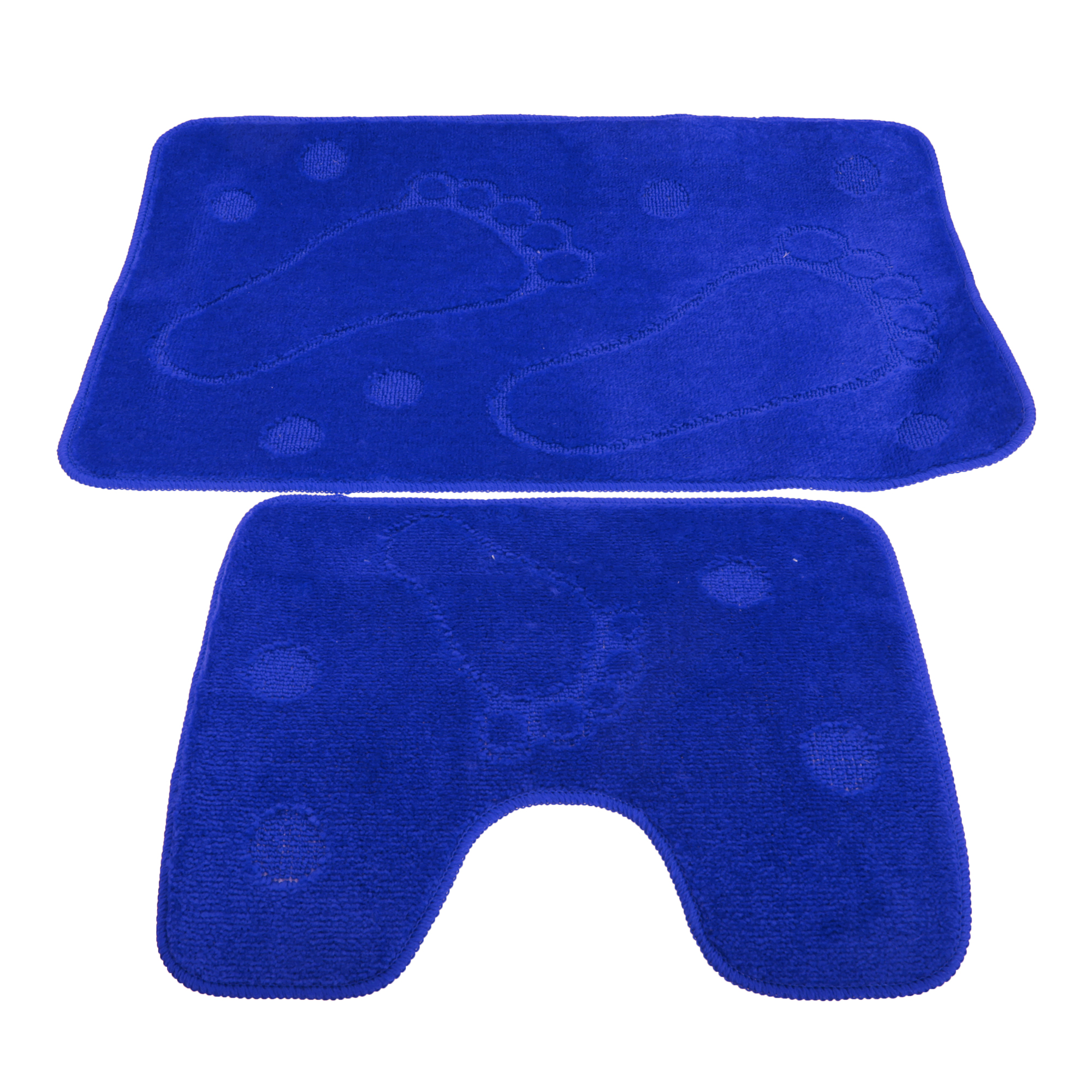 2 Piece Footprint Design Bathroom Bath Mat And Pedestal Rug Set Ebay