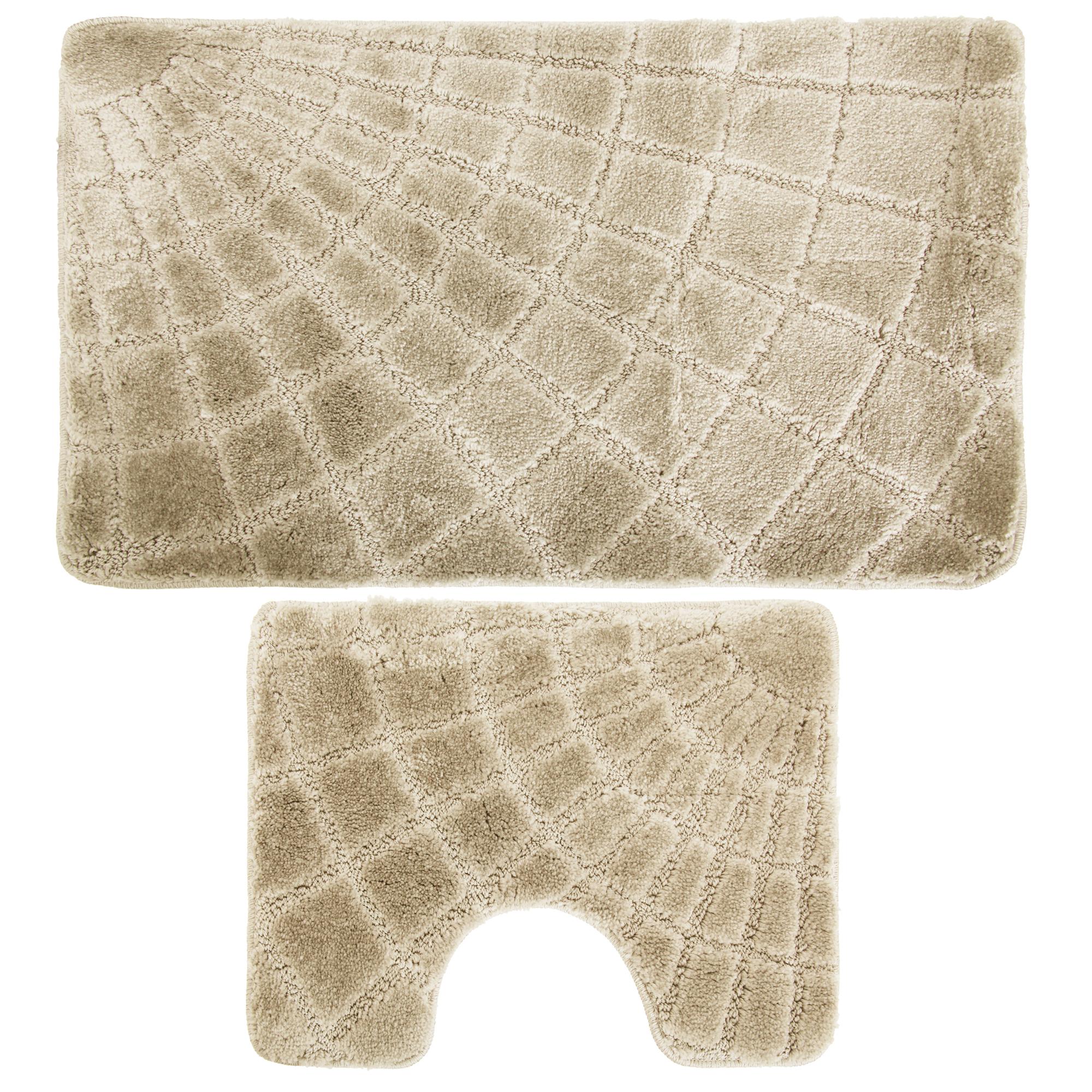 2 Piece Supreme Web Design Bath Pedestal Bathroom Mat Set Ebay