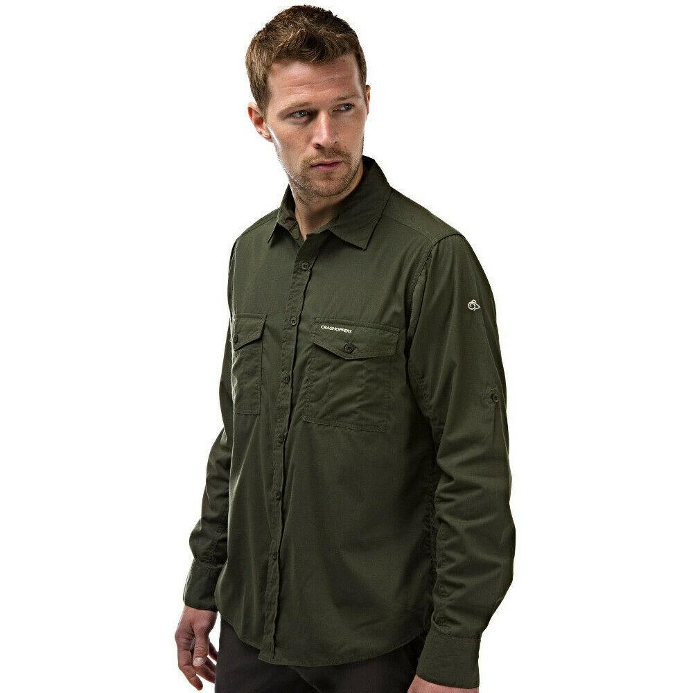 Craghoppers outdoor classic mens kiwi long sleeve shirt ebay for Mens outdoor long sleeve shirts