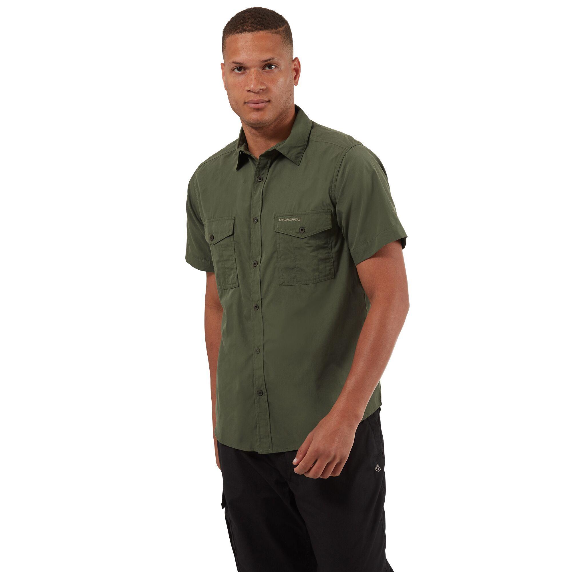 Craghoppers outdoor classic mens kiwi short sleeve shirt for Mens outdoor long sleeve shirts