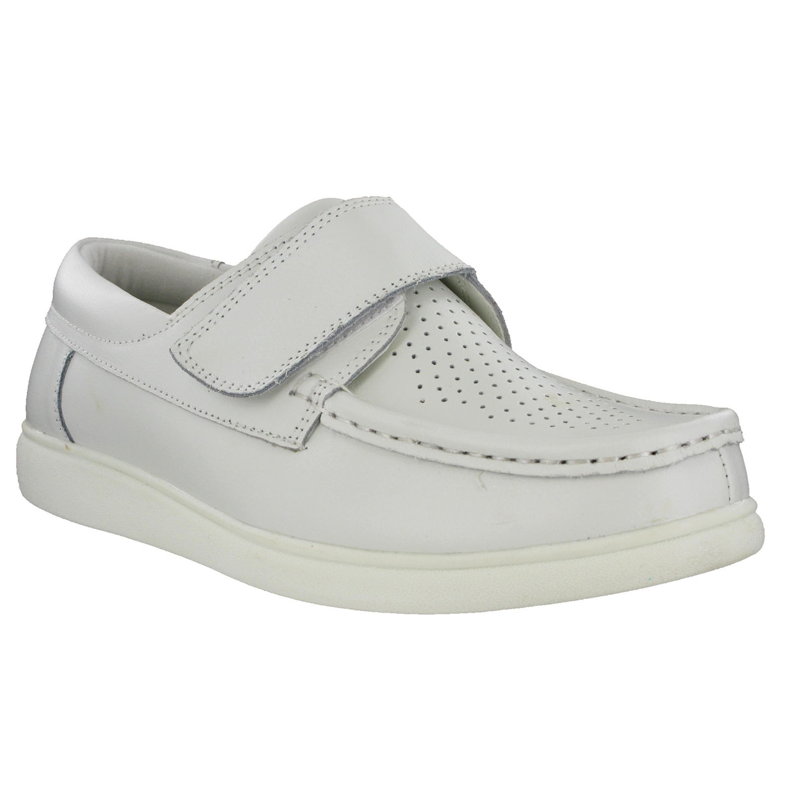 DF1254 Dek Mens Touch Fastening Leather Bowling Shoes