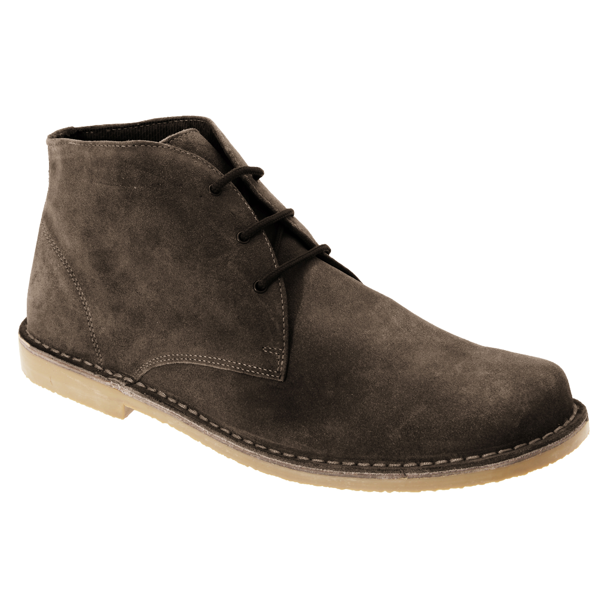 roamers mens real suede fulfit casual desert ankle boots shoes sizes 7 15 ebay. Black Bedroom Furniture Sets. Home Design Ideas