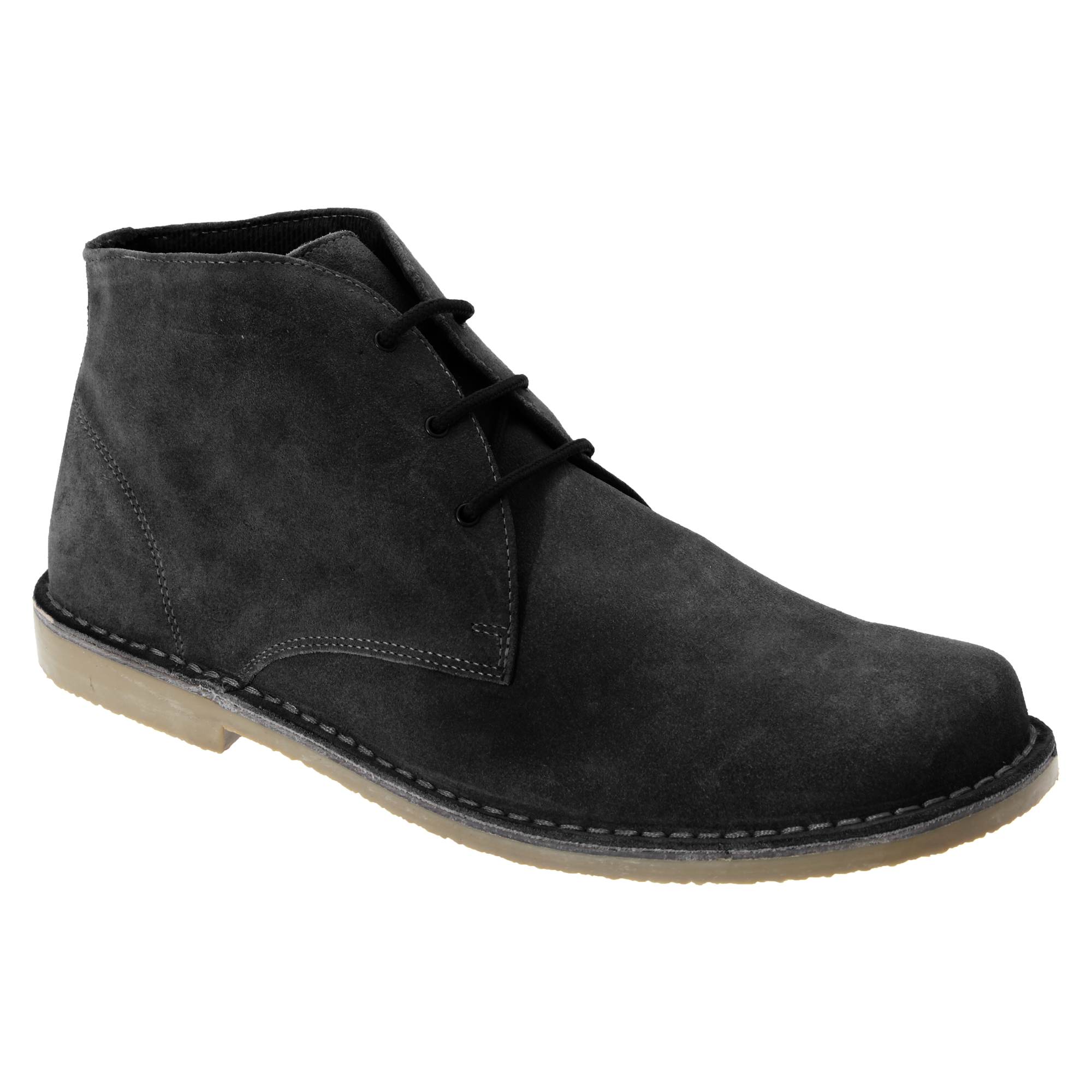 roamers mens real suede fulfit casual desert ankle boots