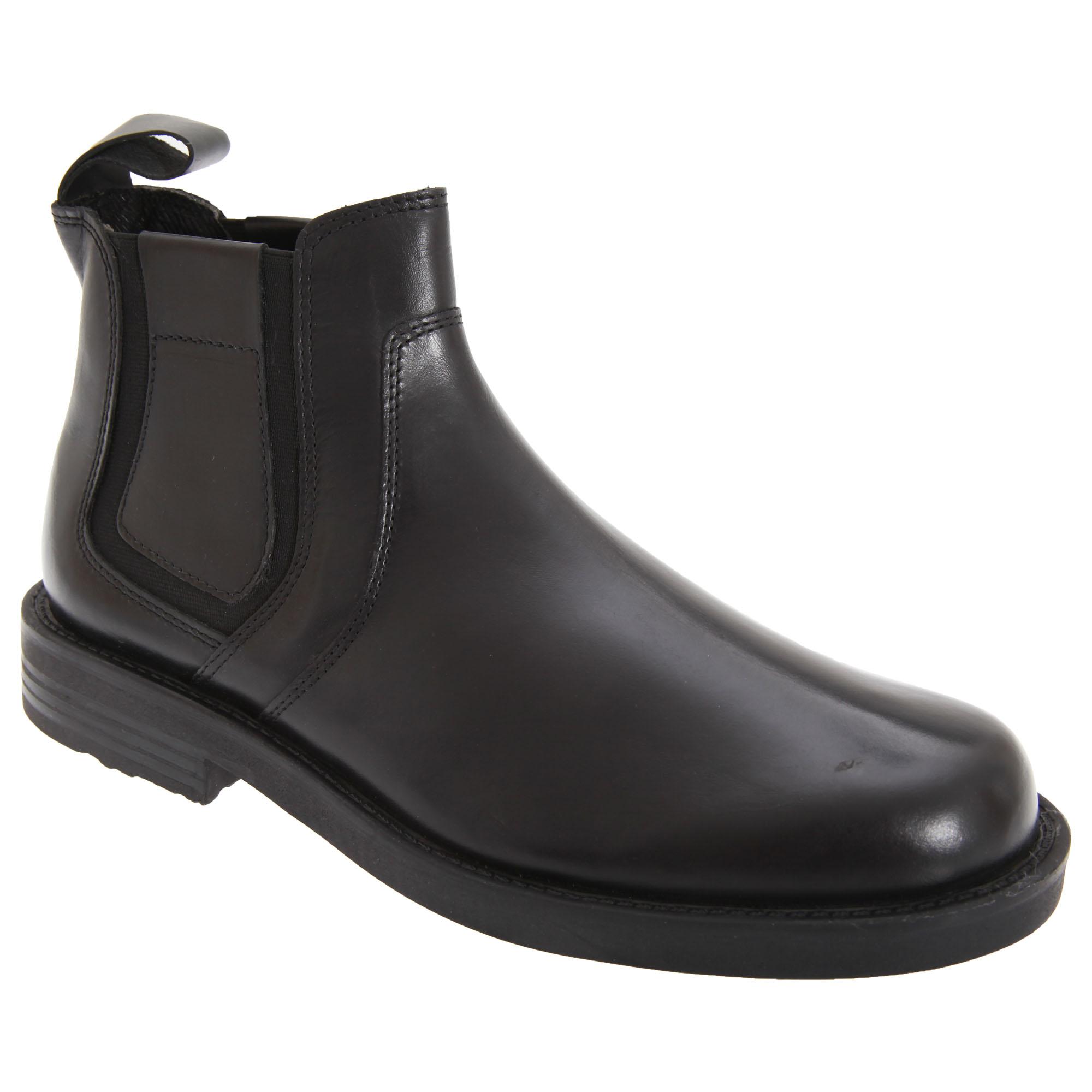 roamers mens leather gusset softie chelsea dealer