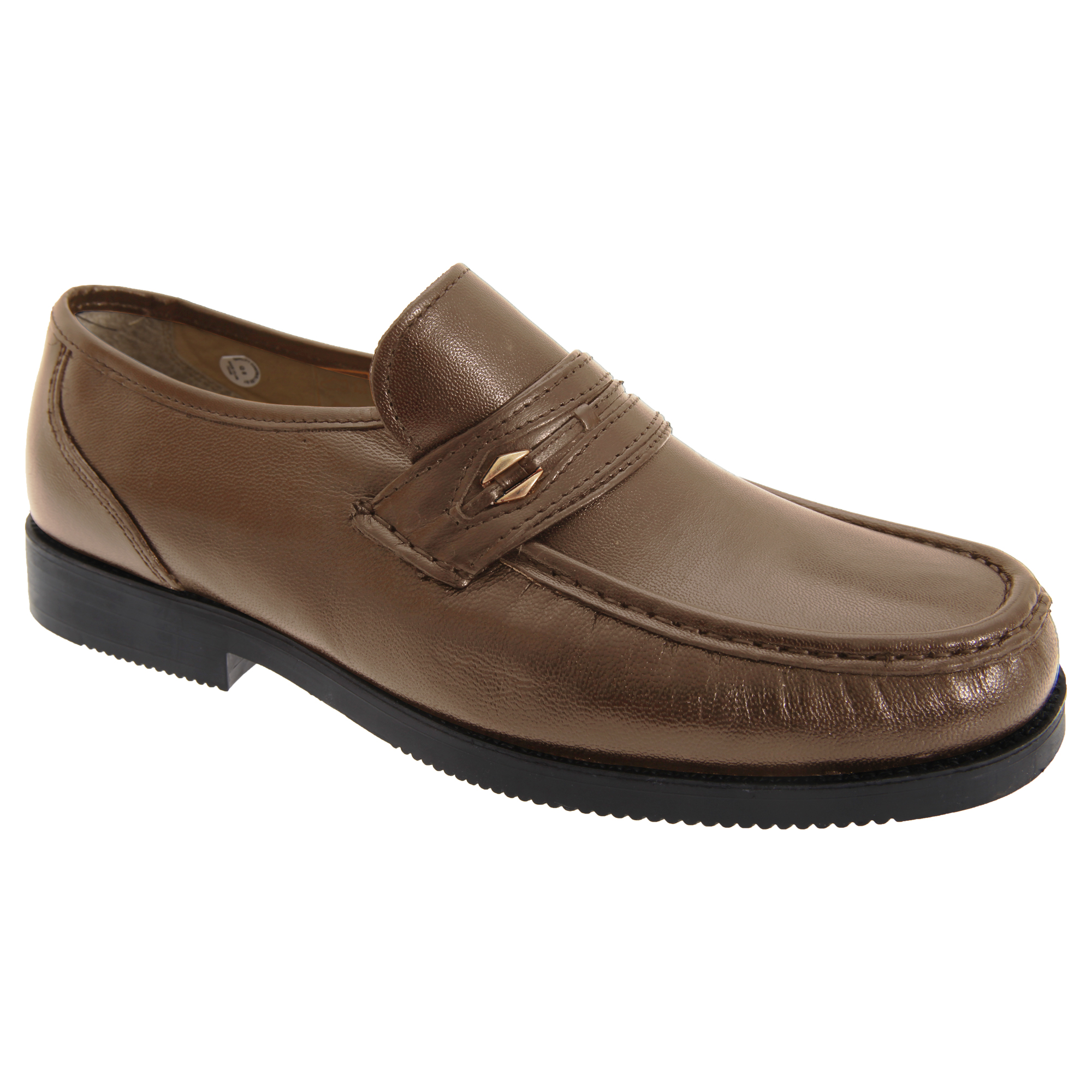 tycoons mens wide fitting saddle trim moccasin type casual