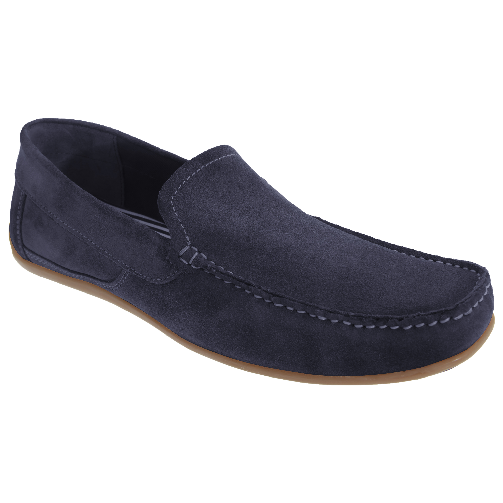 roamers mens real suede leather casual moccasin loafer