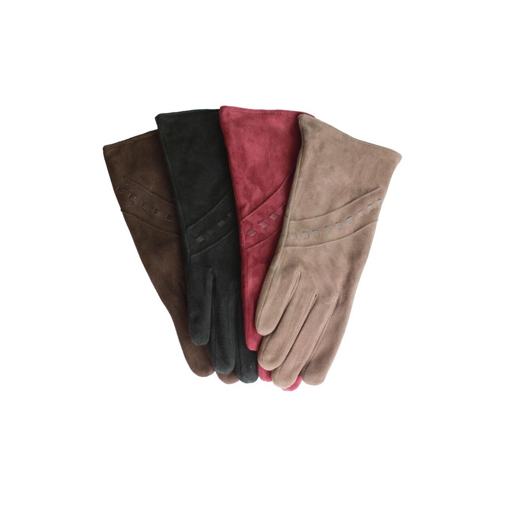 Eastern Counties Leather Womens//Ladies Sian Suede Gloves EL273