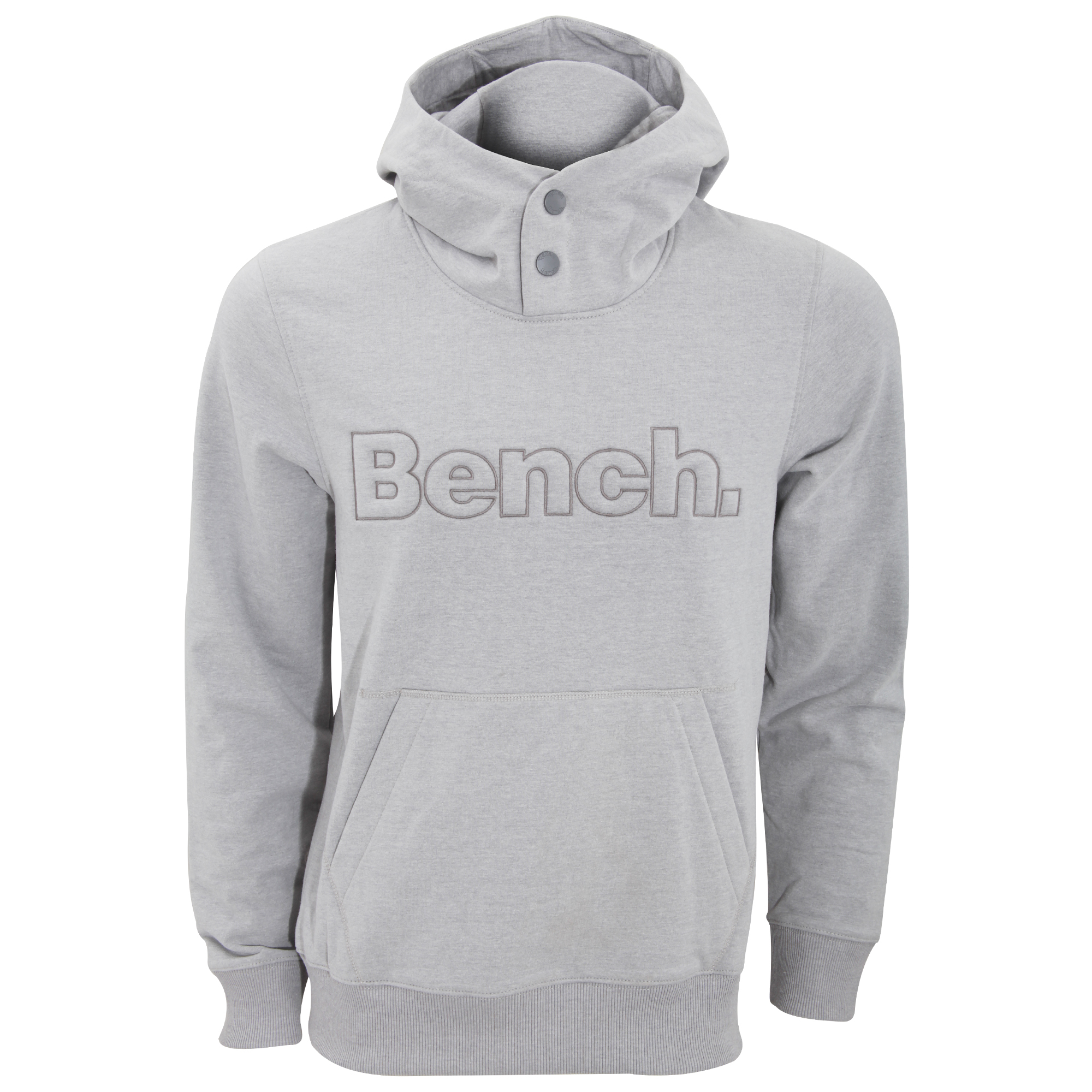 Bench Mens Pop Plain Hoodie With Embossed Logo
