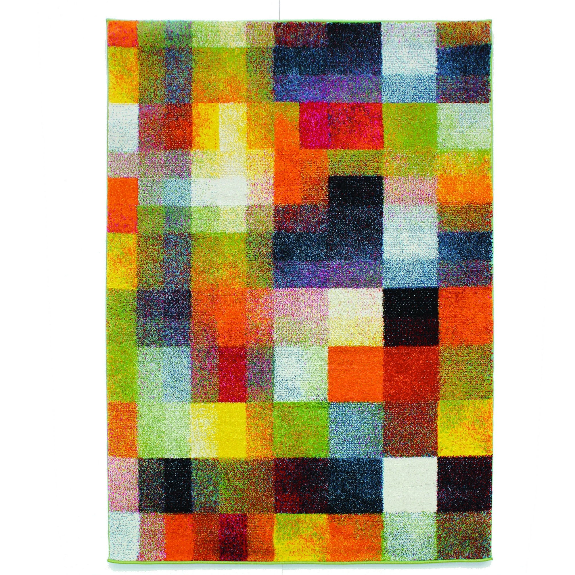 flair rugs impressionist teppich mit farb quadraten ebay. Black Bedroom Furniture Sets. Home Design Ideas
