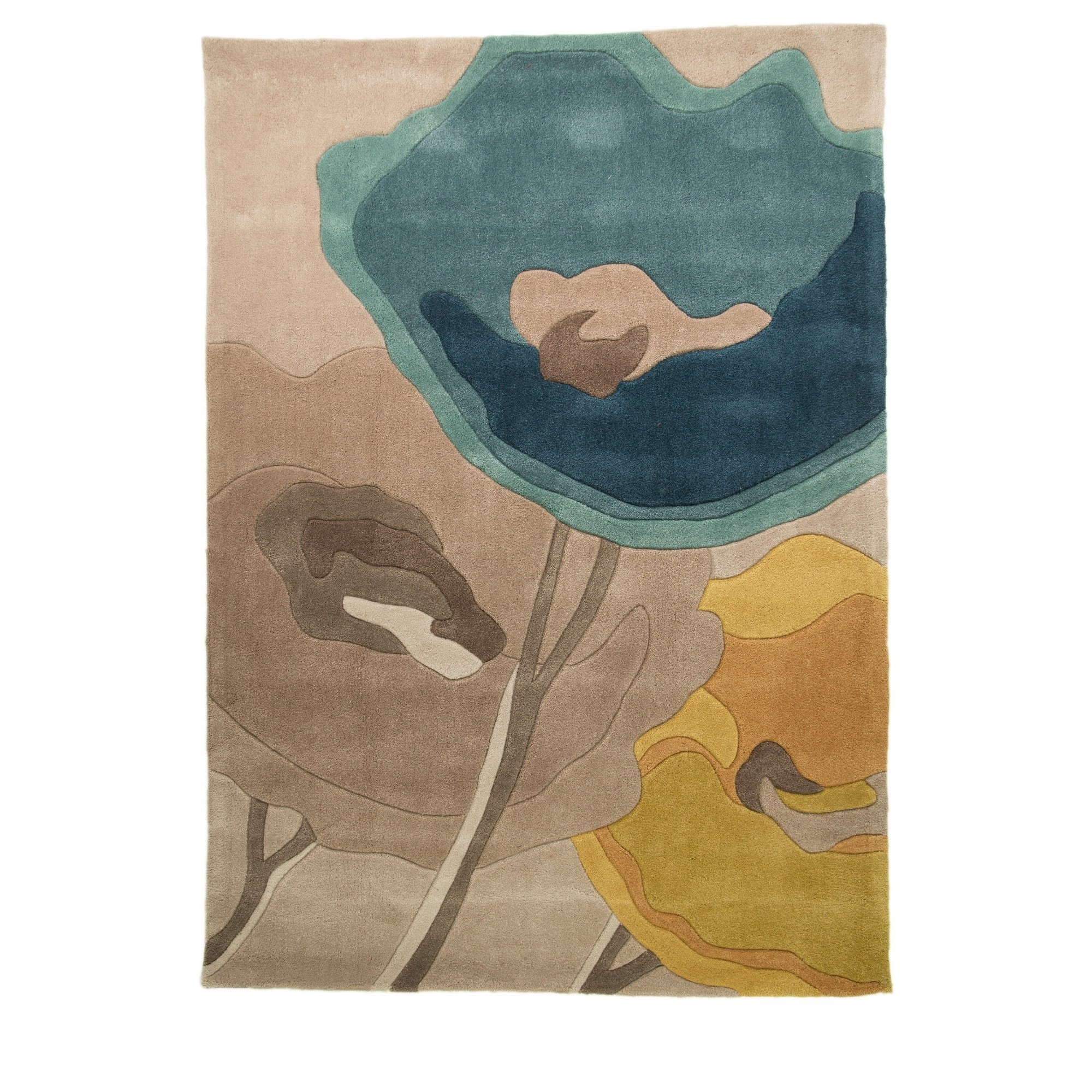Flair rugs infinite mod art poppy flower design floor rug ebay flair rugs infinite mod art poppy flower design mightylinksfo