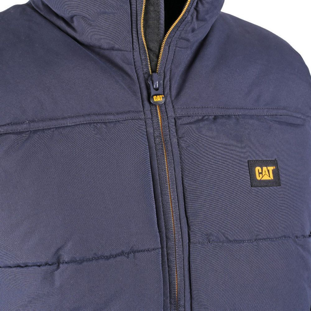 caterpillar c430 quilted insulated vest mens jackets ebay