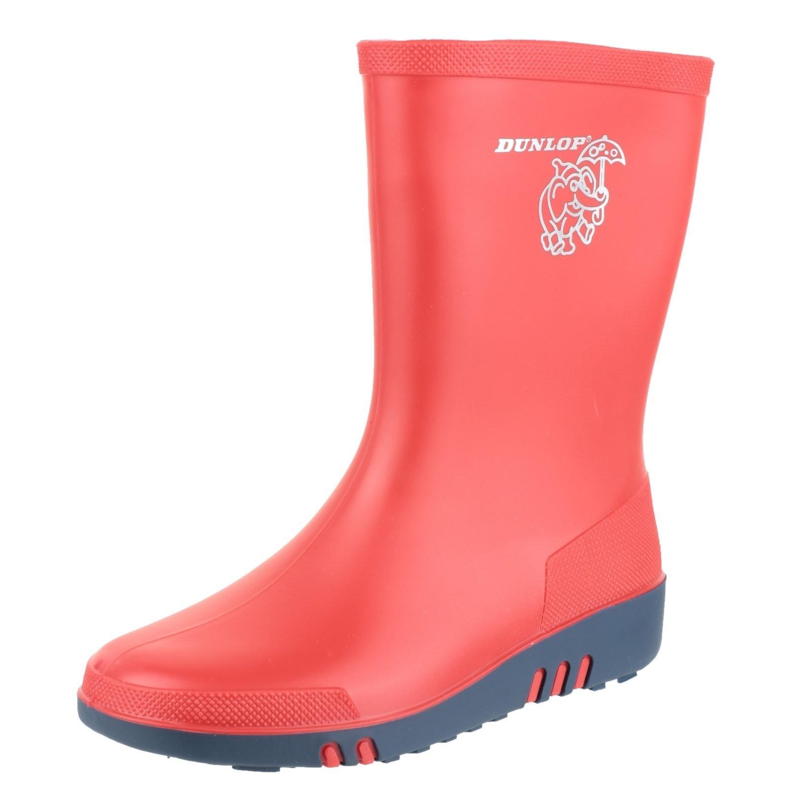 Dunlop Childrens Unisex Mini Elephant Wellington Boots FS2806