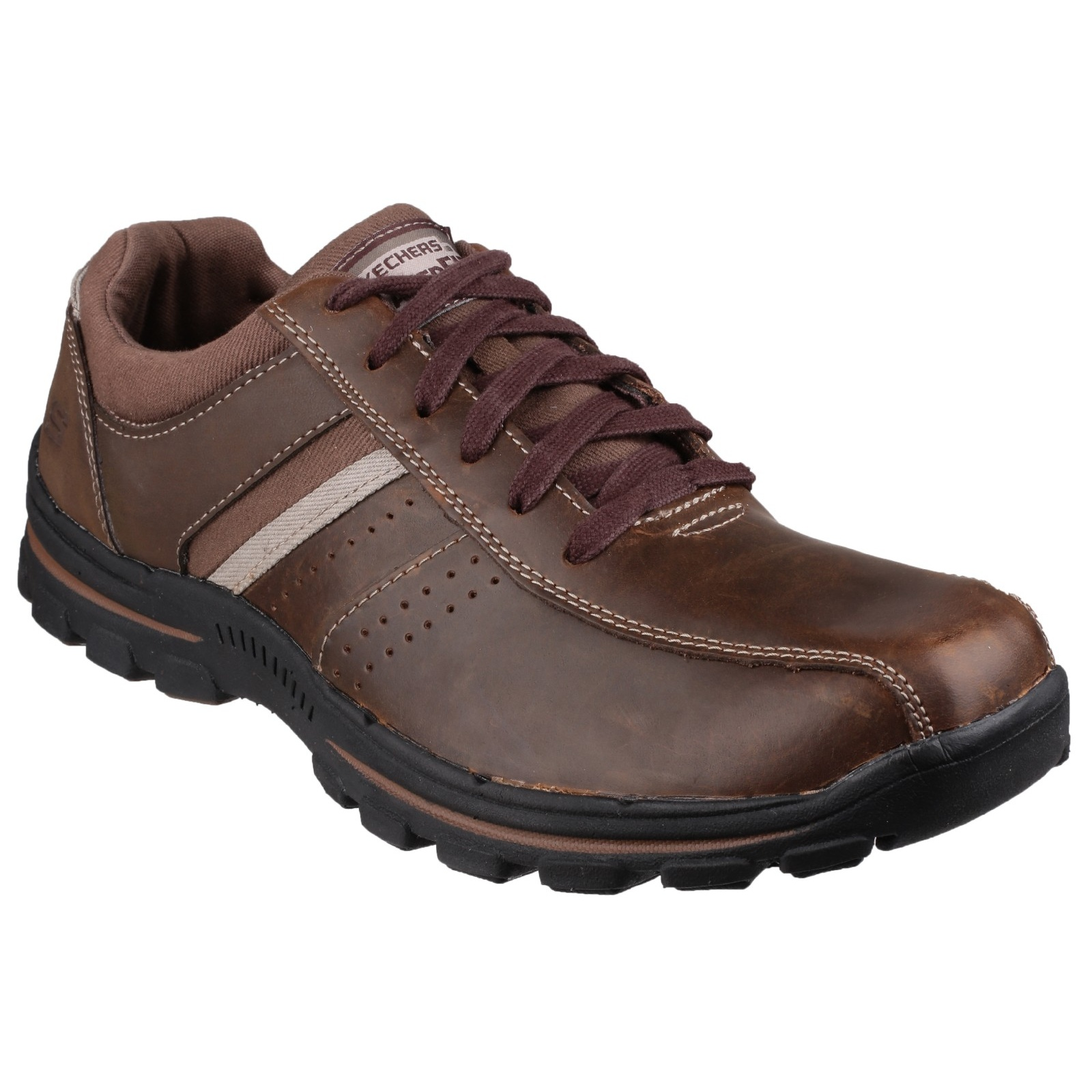 skechers mens braver alfano lace up oxford style shoes ebay