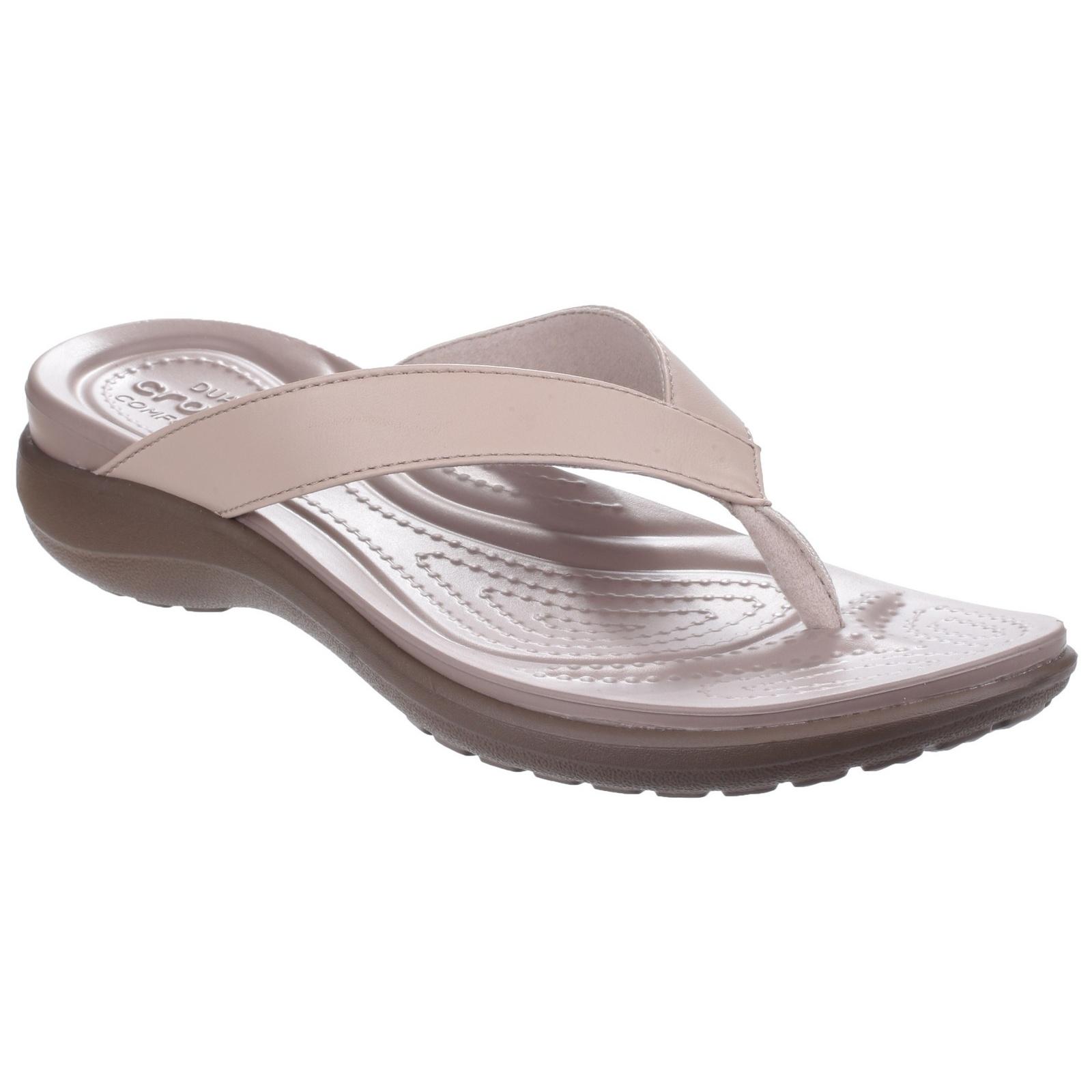 crocs womens ladies capri v summer flip flops ebay. Black Bedroom Furniture Sets. Home Design Ideas