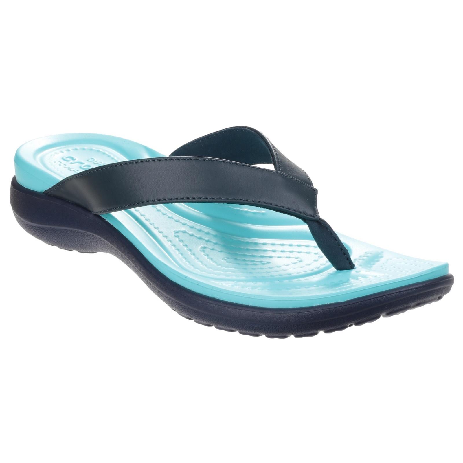 crocs womens ladies capri v summer flip flops. Black Bedroom Furniture Sets. Home Design Ideas