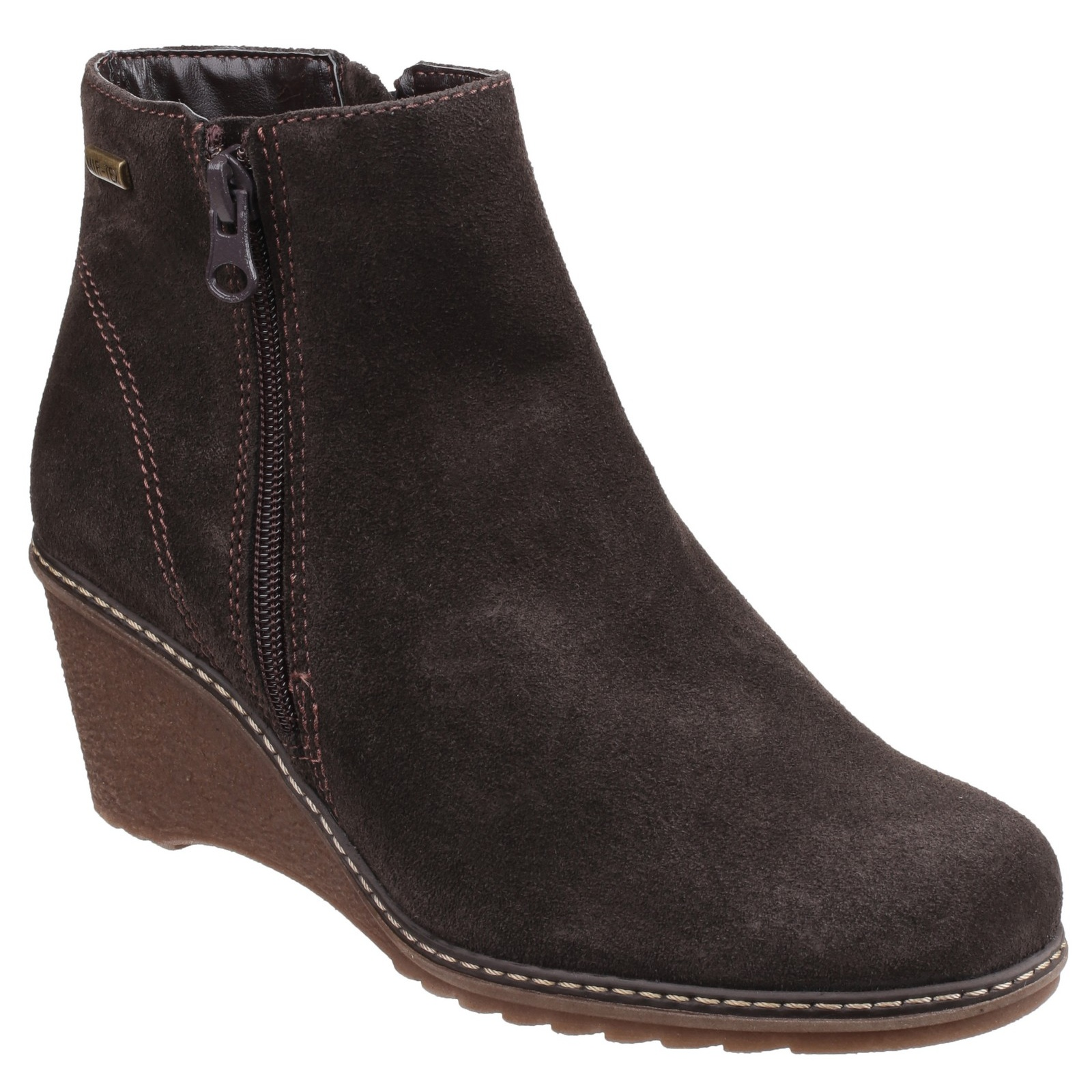 cotswold womens ford waterproof zip up ankle boot