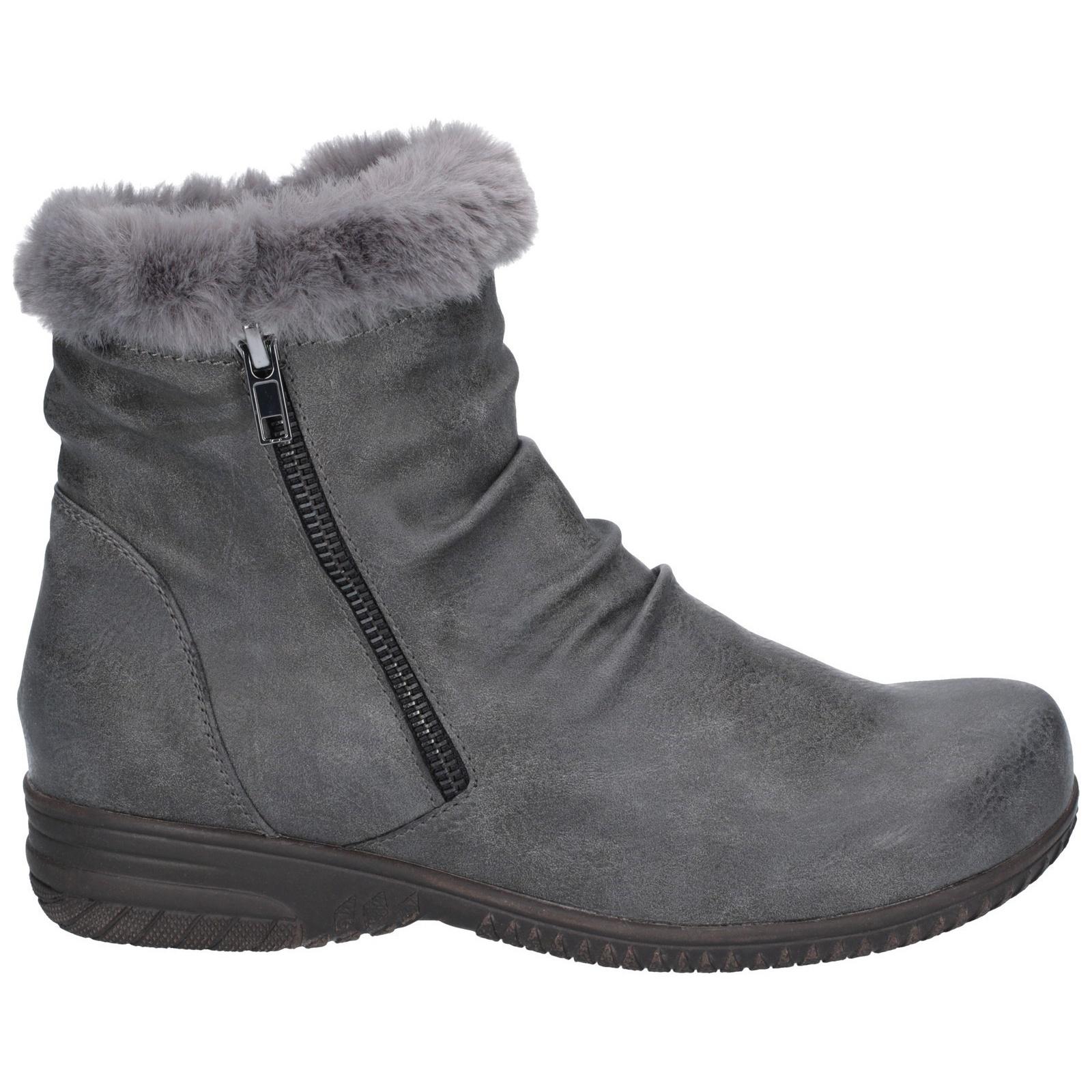 Fleet /& Foster Womens//Ladies Aurora Zip Boot FS5848