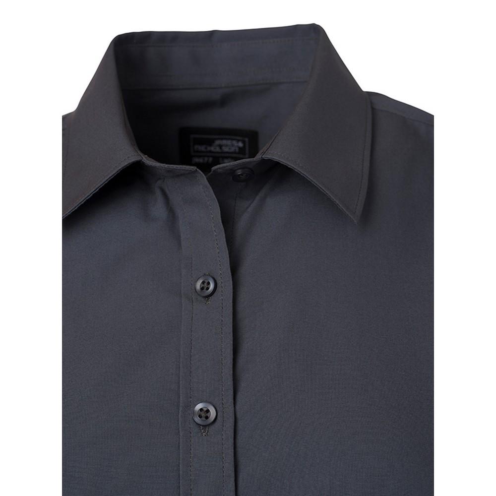 FU774 James and Nicholson Mens Longsleeve Poplin Shirt