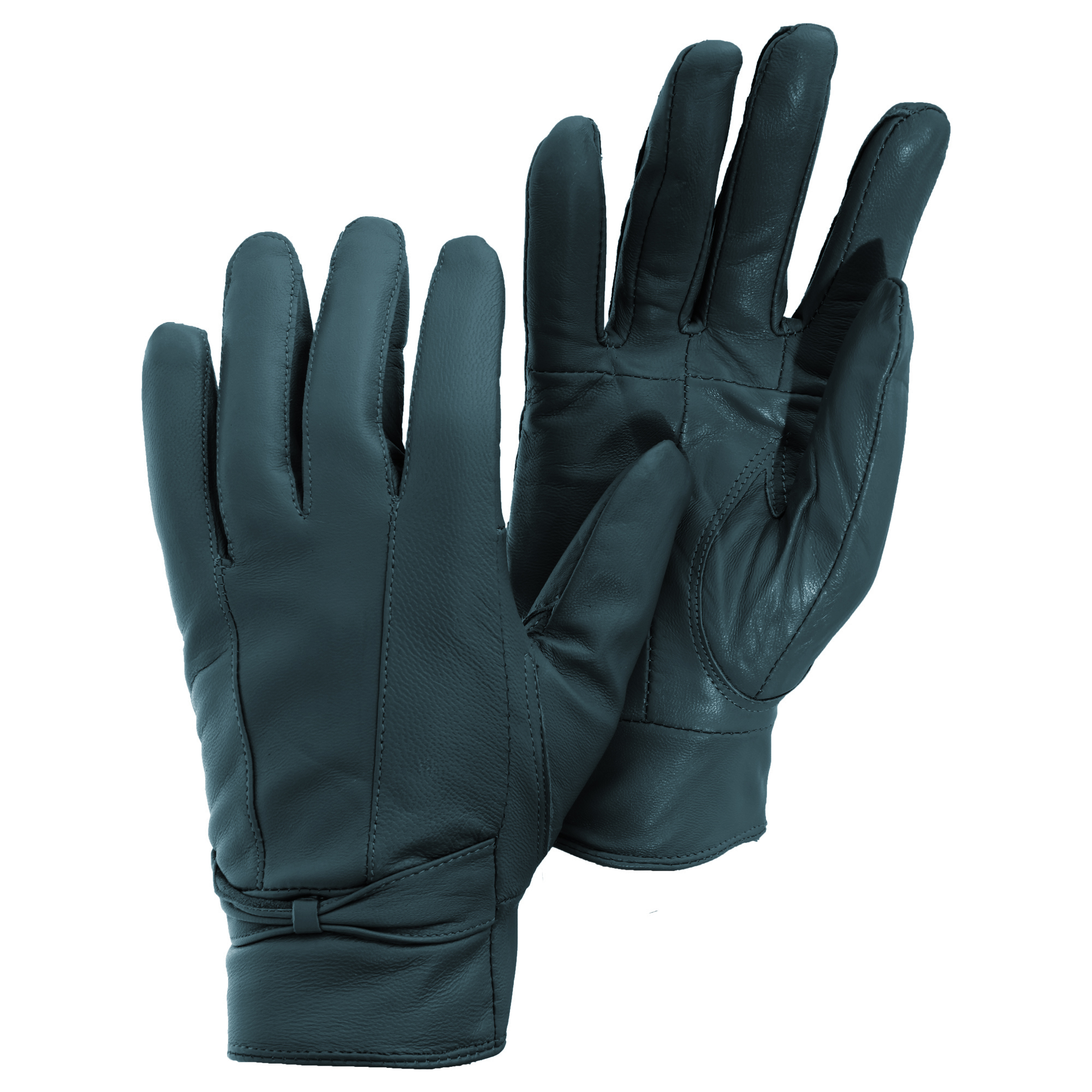 Womens leather gloves teal - Womens Ladies Plain Leather Gloves
