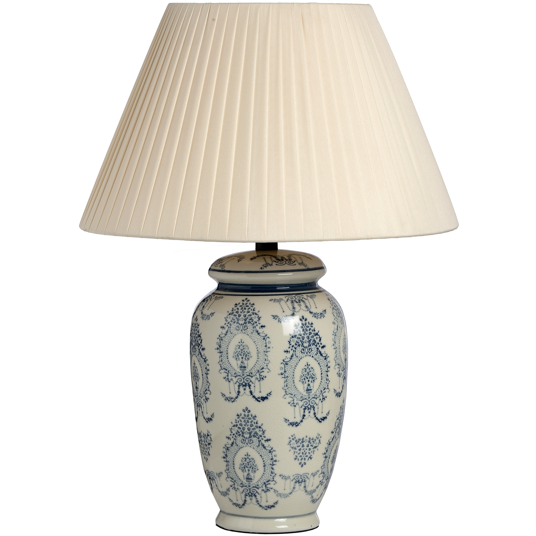 Hill Interiors Light Blue Pattern Ceramic Table Lamp